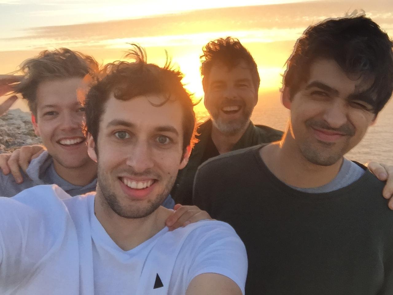 The crew: Jake, Adam, Pete & Nick