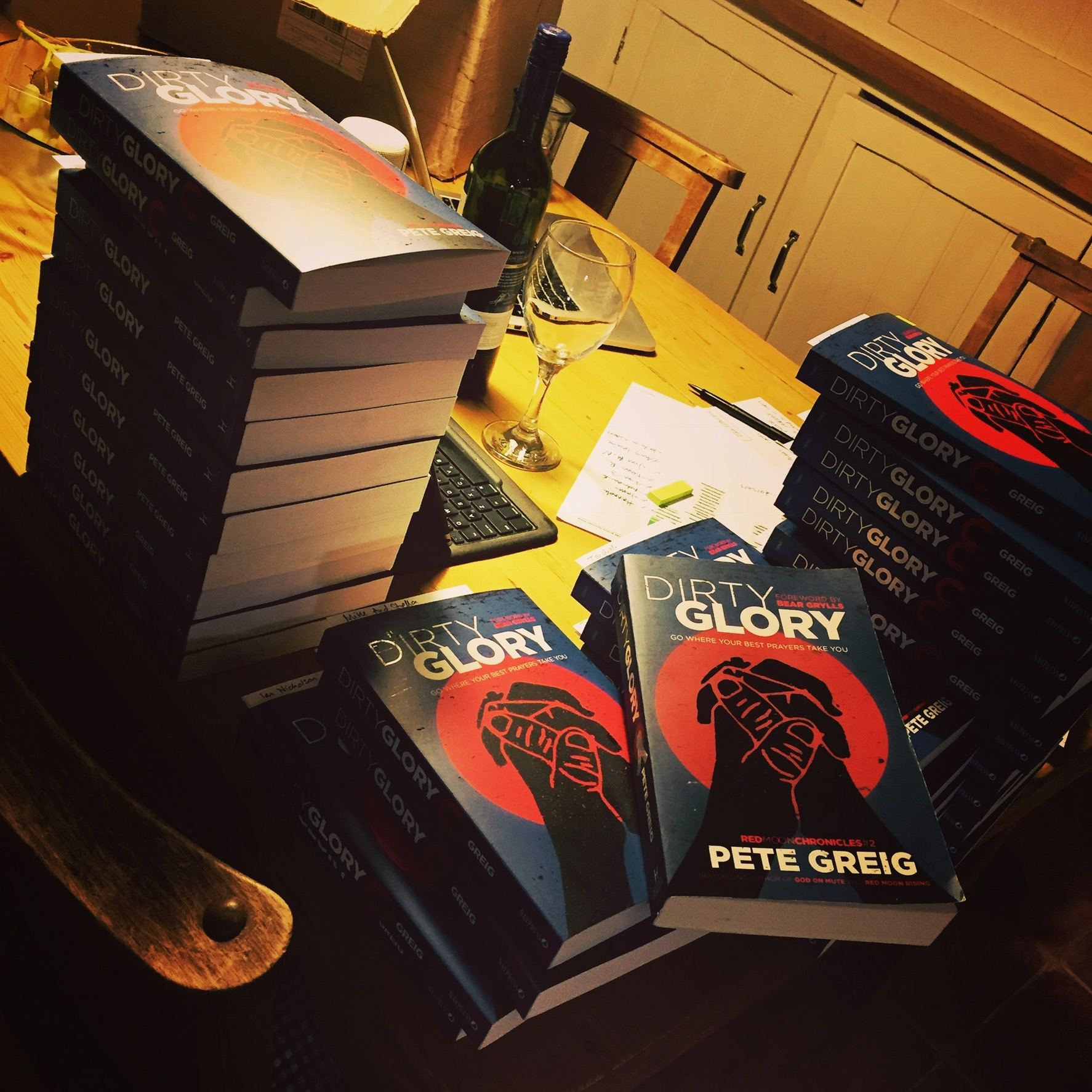 First Copies - September 2016: Sending out complimentary first edition copies to all the people involved in the Dirty Glory project.