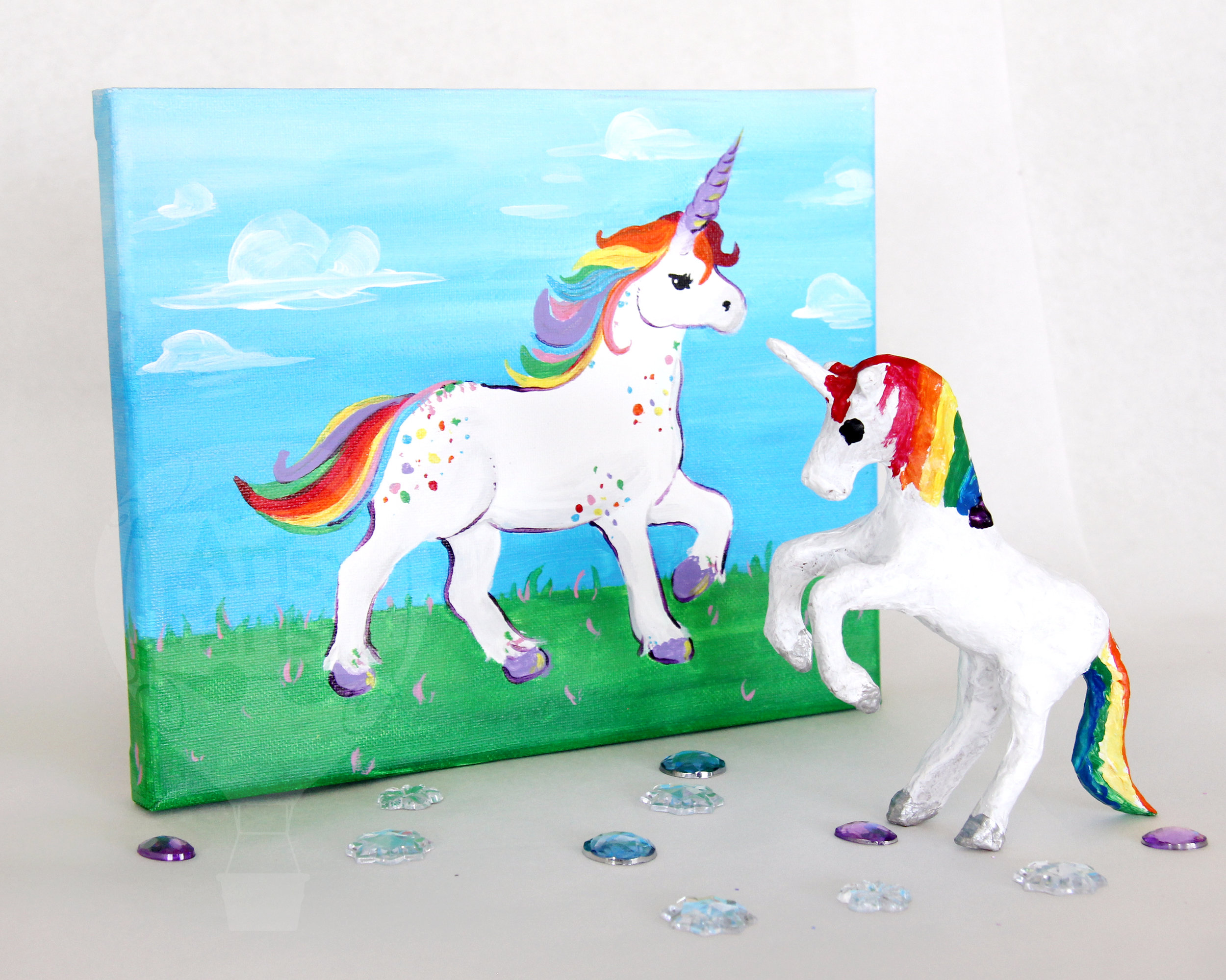 Paper Mache & Canvas Unicorn