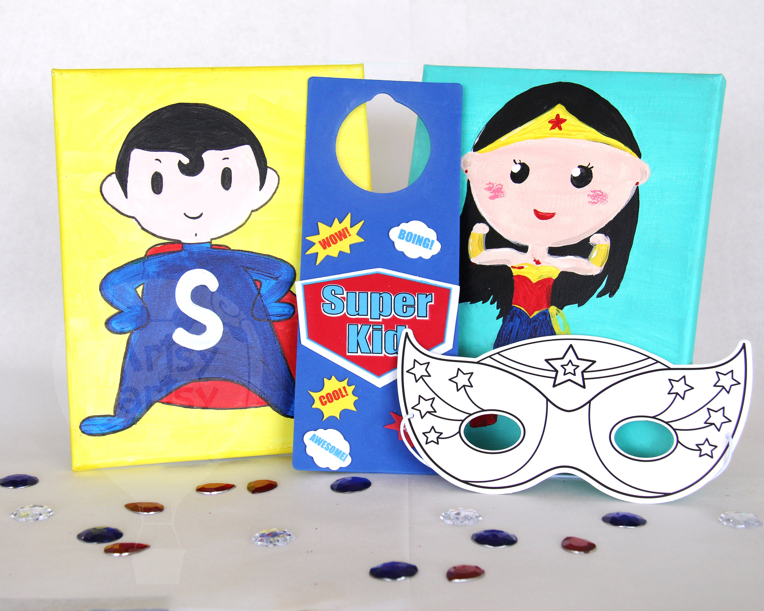 Super Hero Door Hanger & Mask