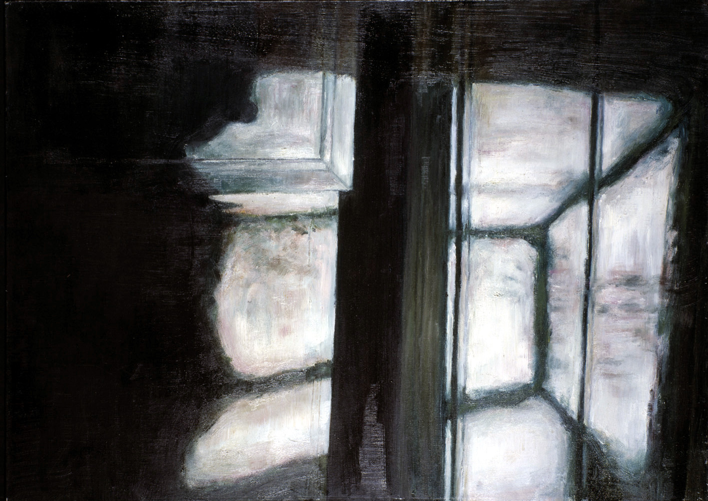 Interior with angles  Oil on panel  50 x 70 cm  2002