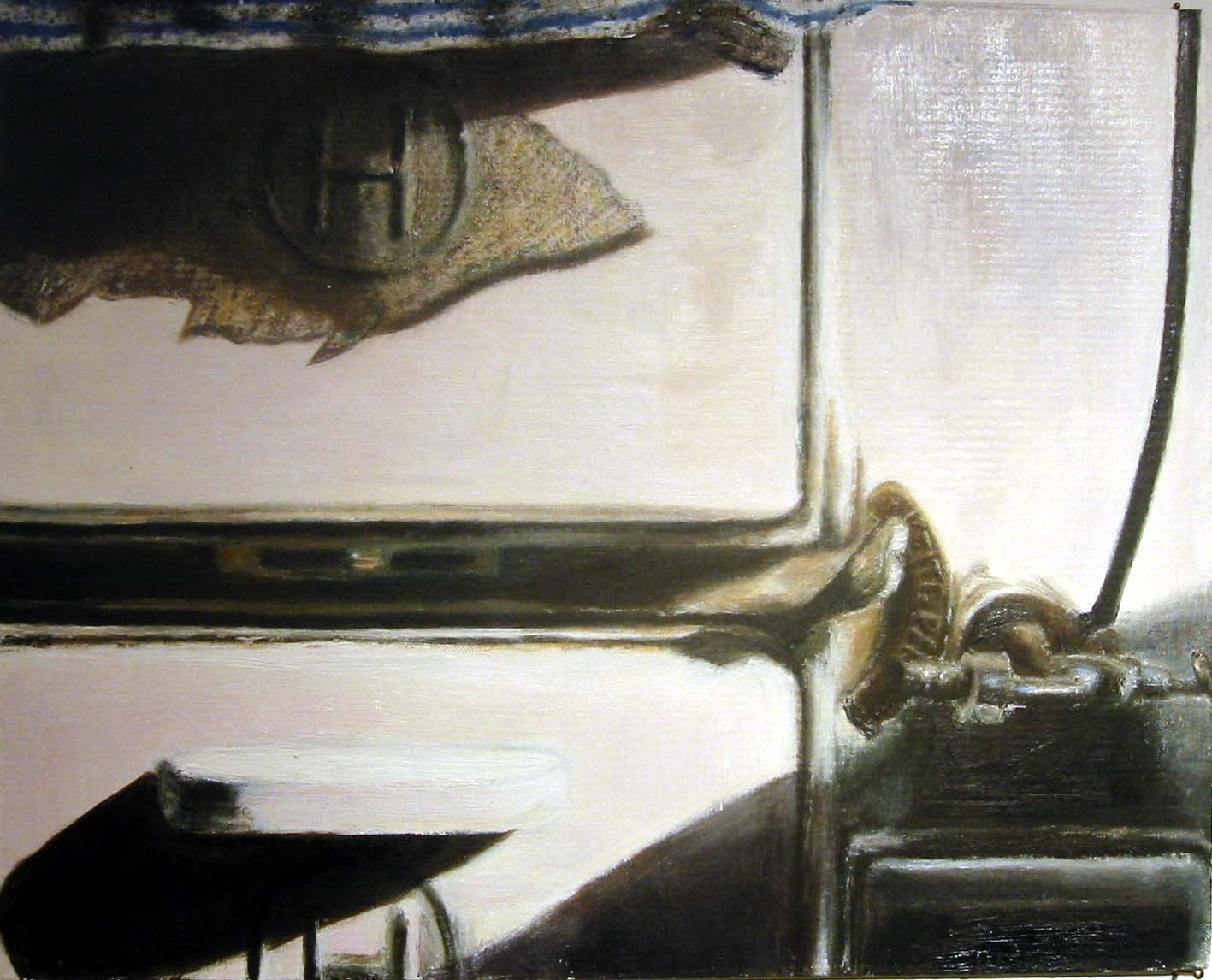 Interior with stove  Oil on board 27x35 cm 2003