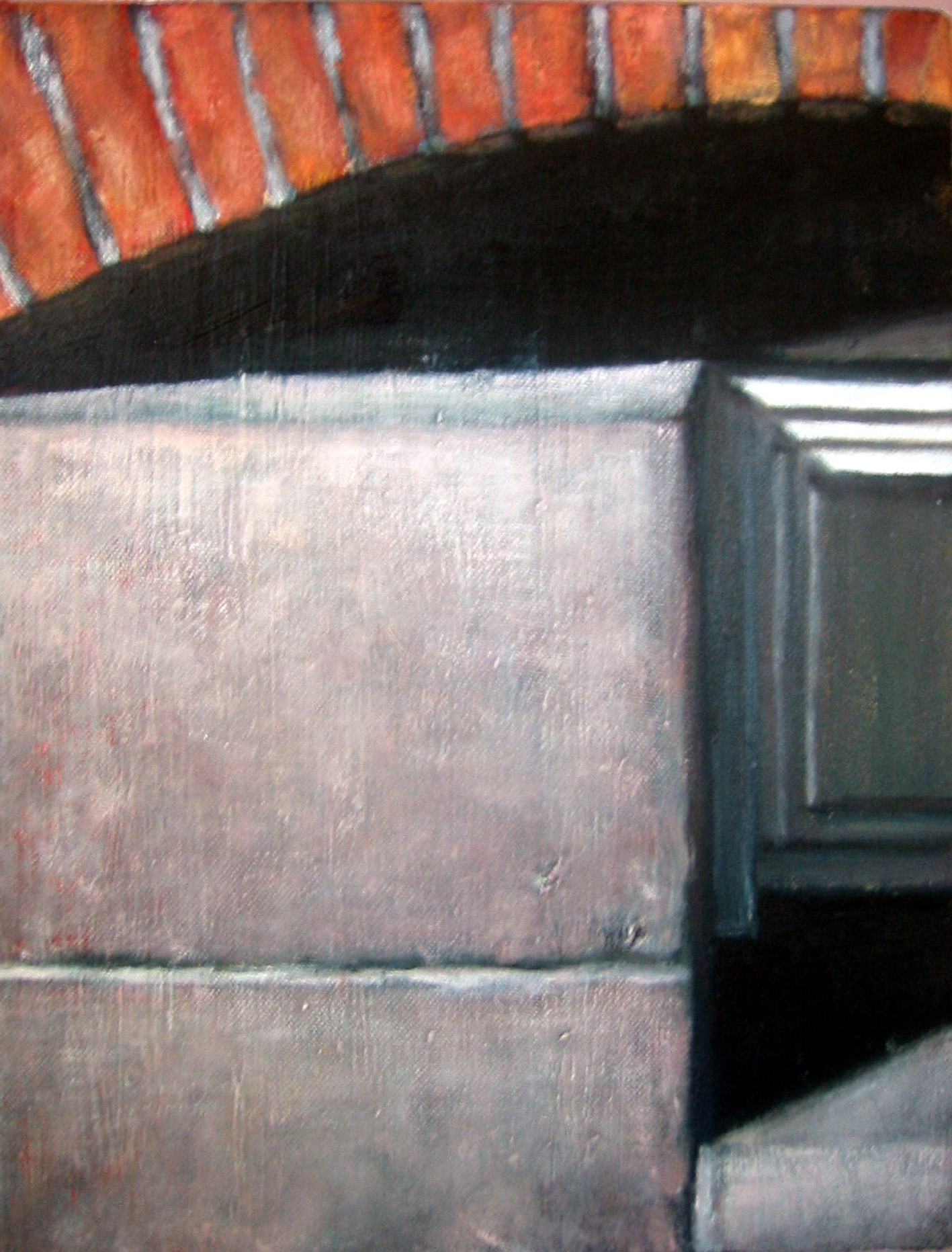 Exterior with cellar window  Oil on canvas  35 x 27 cm  2004