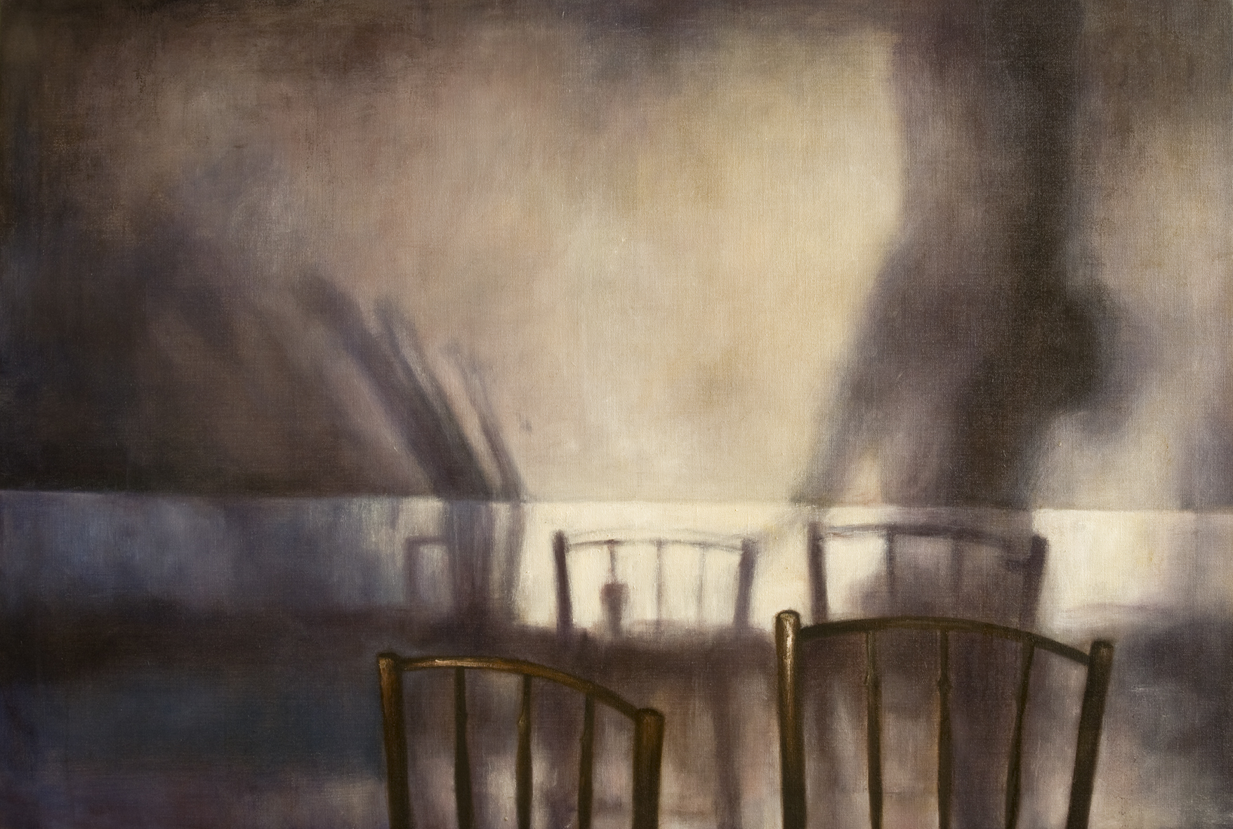 Interior with two chairs  Oil on canvas 105 x 140 cm 2007