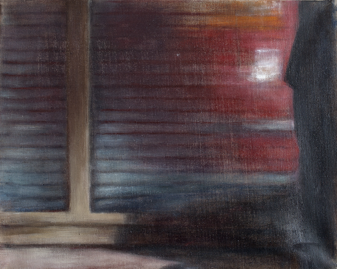 Blinds IV  Oil on canvas 33x41 cm 2011