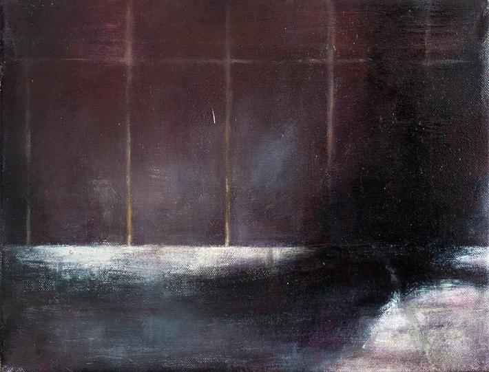 Exterior from Helsinki Street  Oil on canvas 27x35 cm 2011