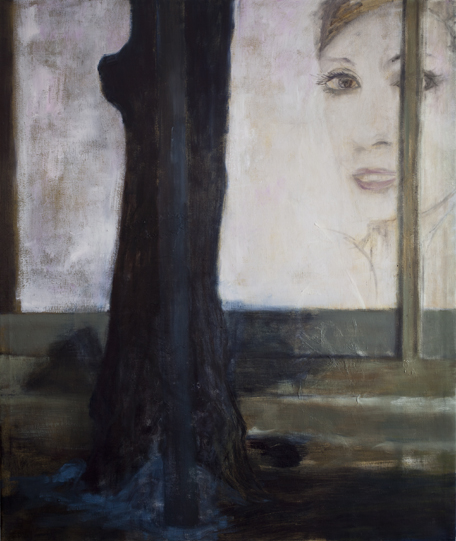 Lamp post and tree  Oil on canvas 130x110 cm 2011