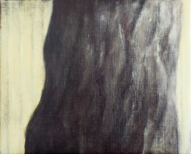 Exterior with Tree Trunk  Oil on canvas 27x33 cm 2011