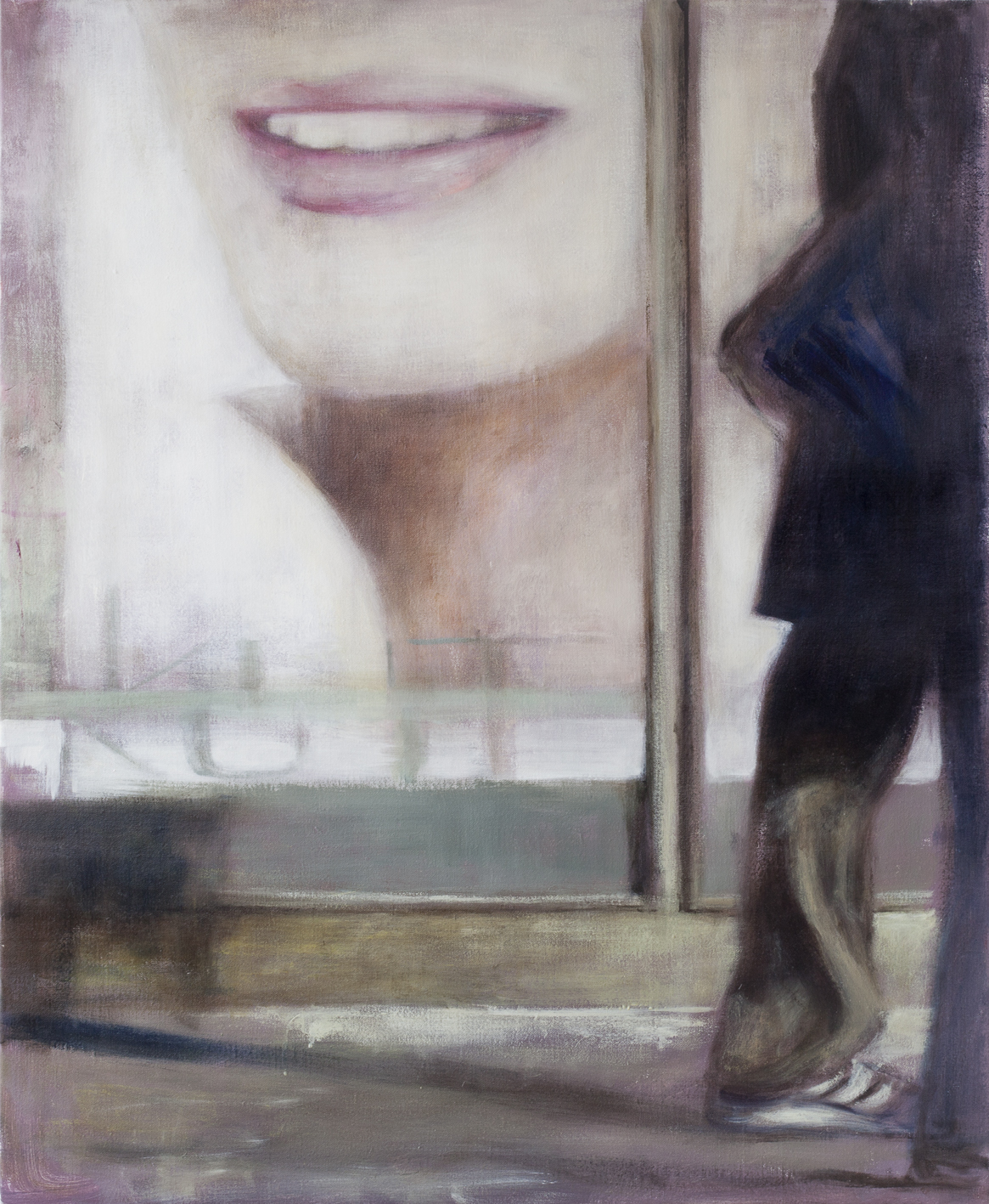 Exterior with ad II  Oil on canvas 110x90 cm 2012