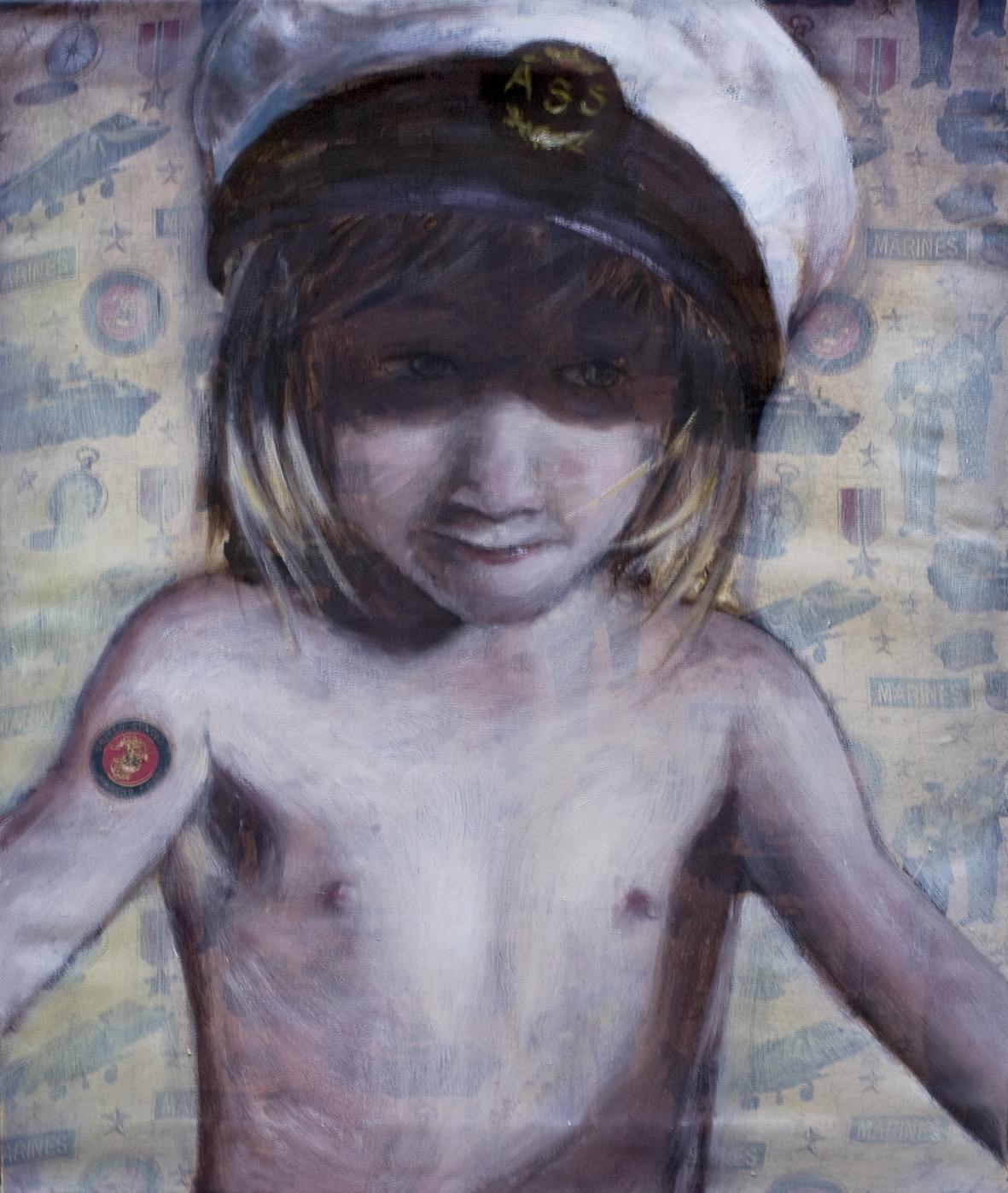 Patriot I  Oil on  patriots  canvas 55x46 cm 2008