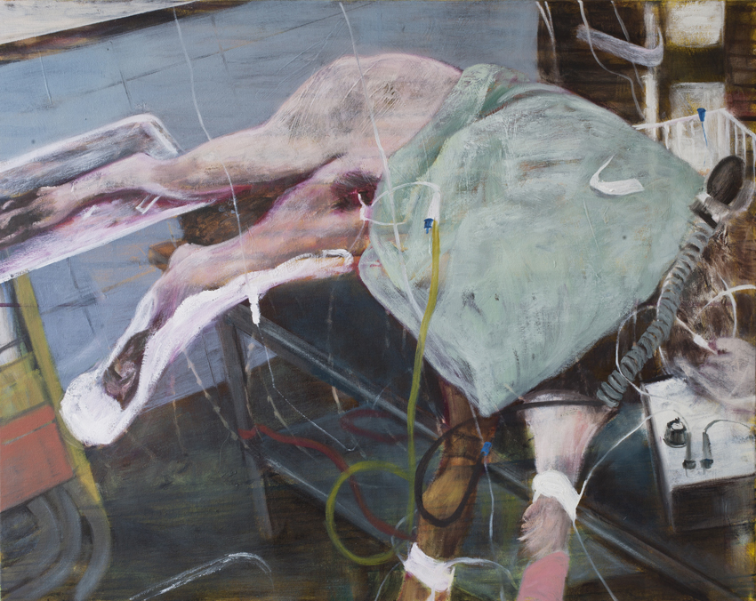From the series Dog Days are over #3  Acrylic and oil on canvas 2016