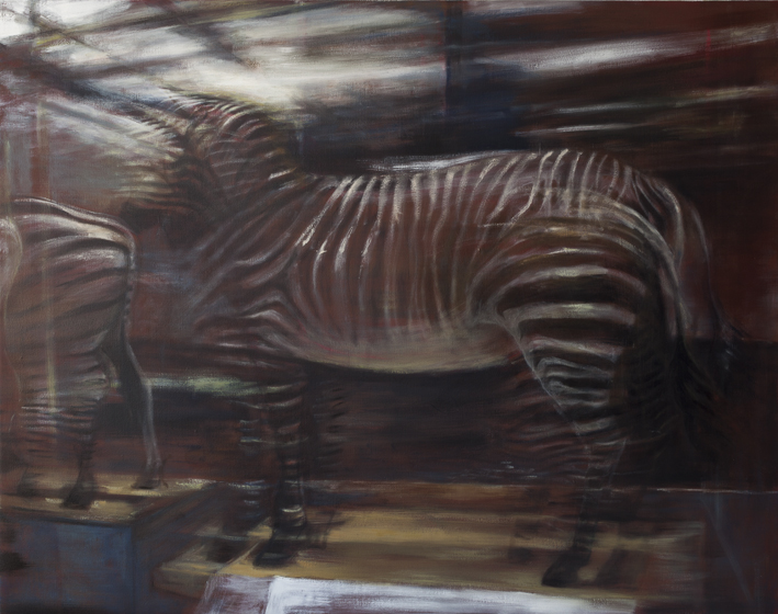 Display (Zebra)  Acrylic and oil on canvas 130x 135 cm 2012