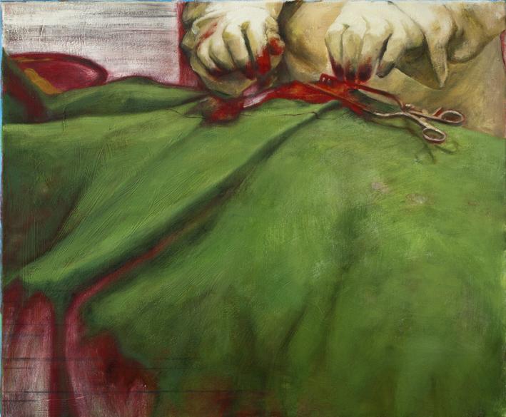 Sarjasta Välskärin (kertomattomat) kertomukset #1  Akryyli ja öljy kankaalle 54 x 65 cm 2014–15