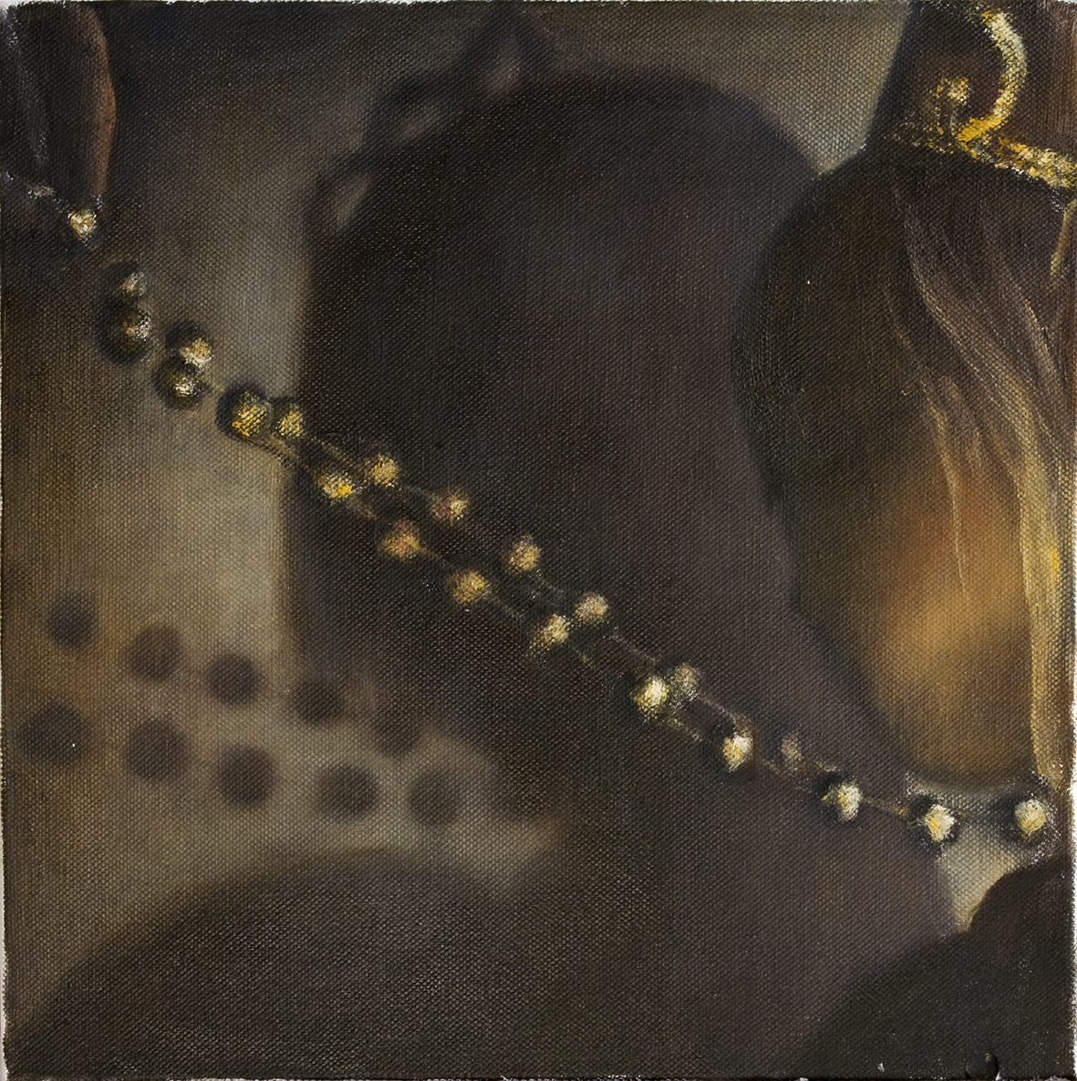 Girl with necklace  Oil on canvas 30x30 cm 2006–07