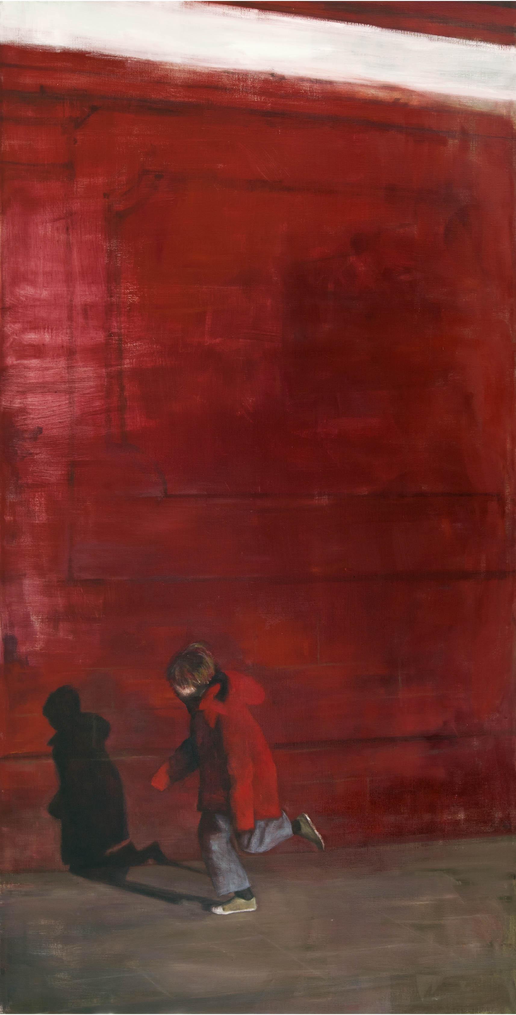 Exterior with boy  Oil on canvas 290x150 cm 2012