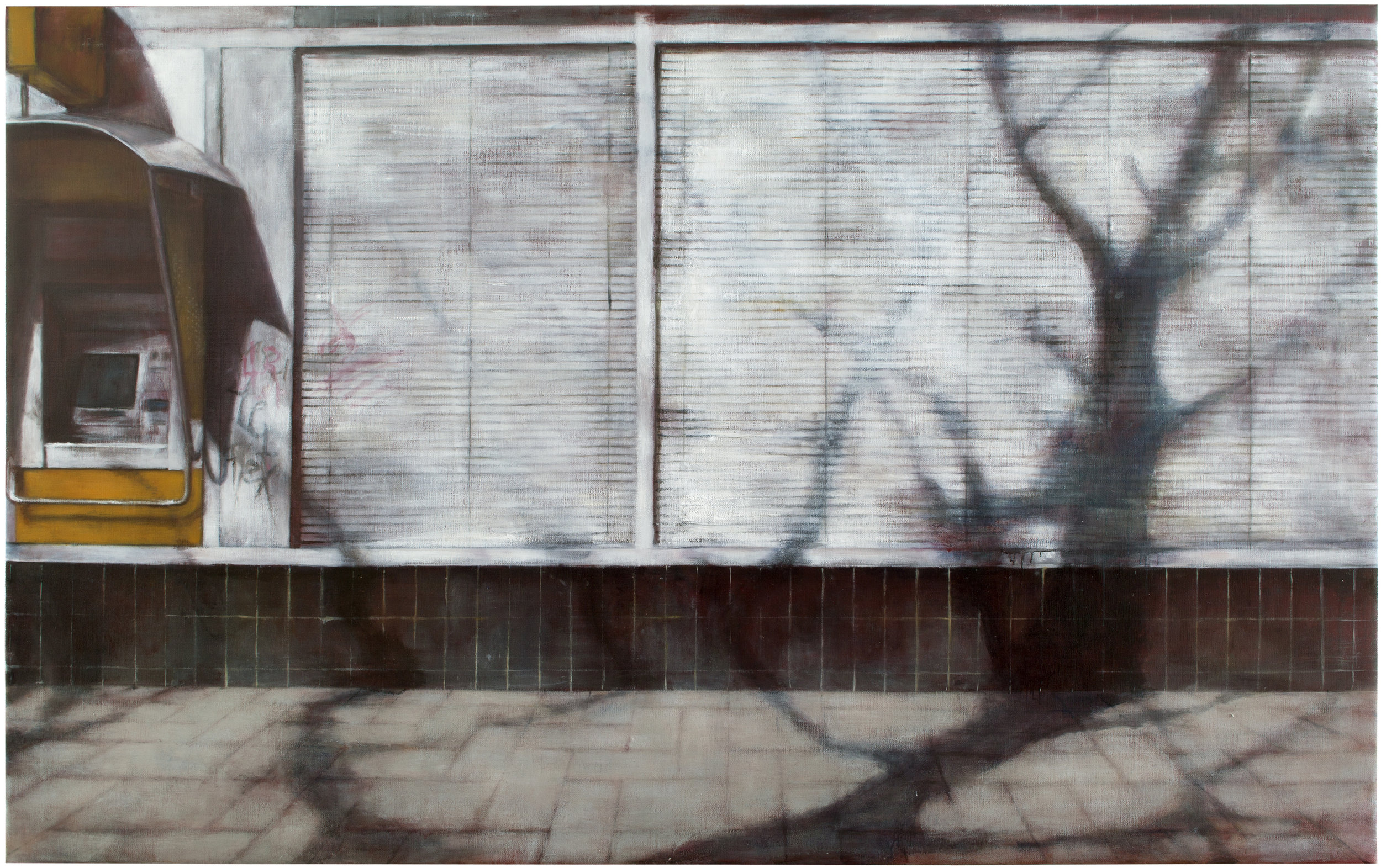 Exterior with blinds  Oil on canvas 150x240 cm, 2011