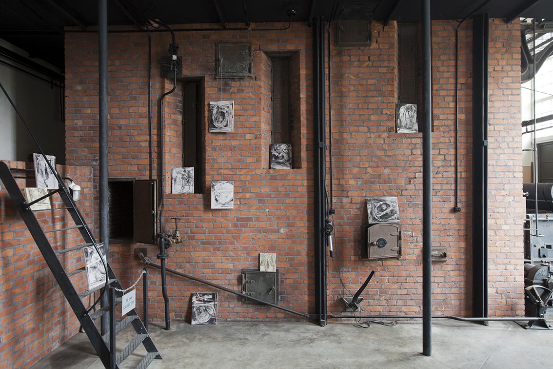 Herzen  Maskinell/Koneellinen, Koppling konst, 2015 at Power Plant museum, Helsinki, August-September 2015.