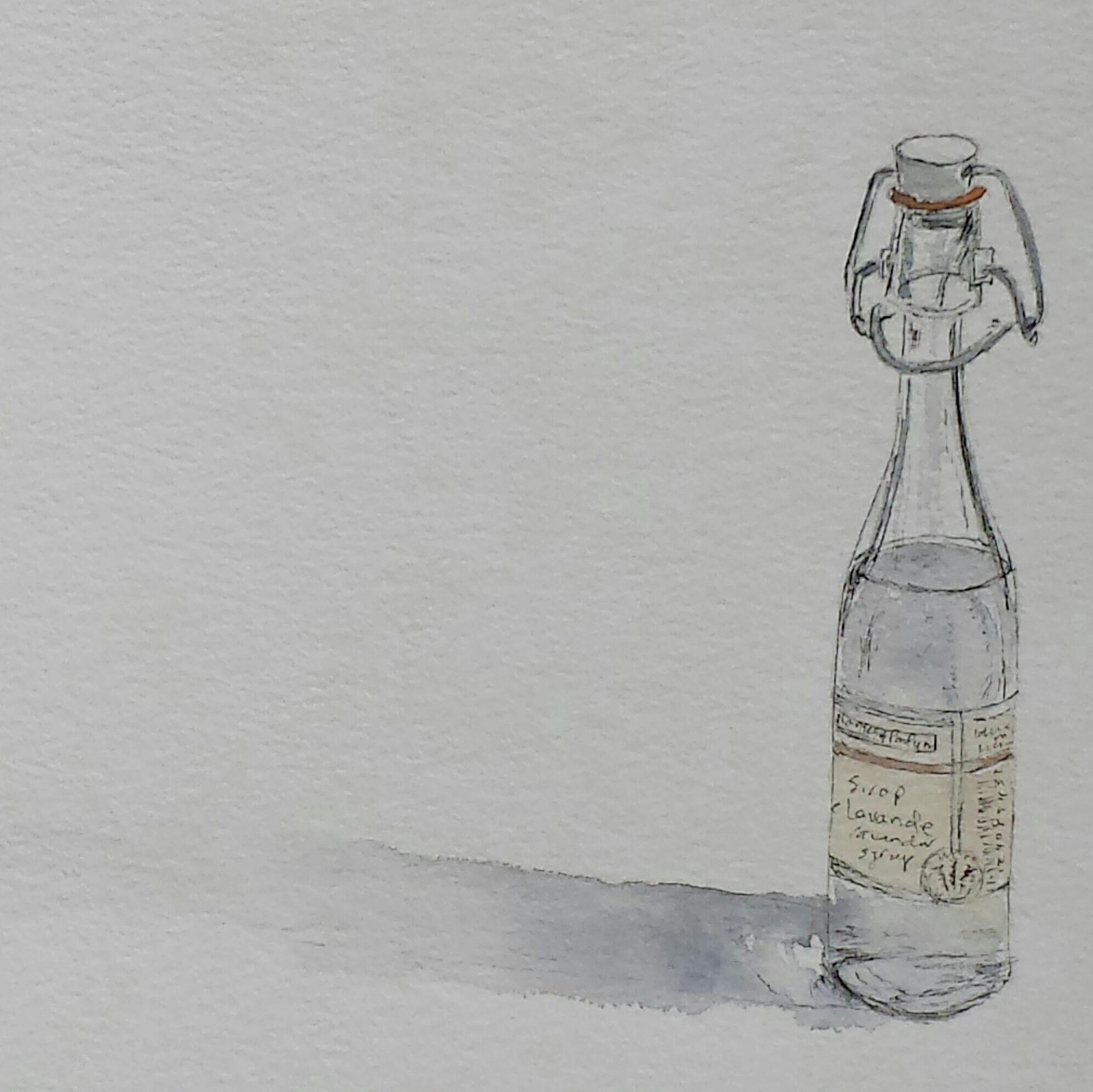 Sirop de lavande, 2016, pen and wash.