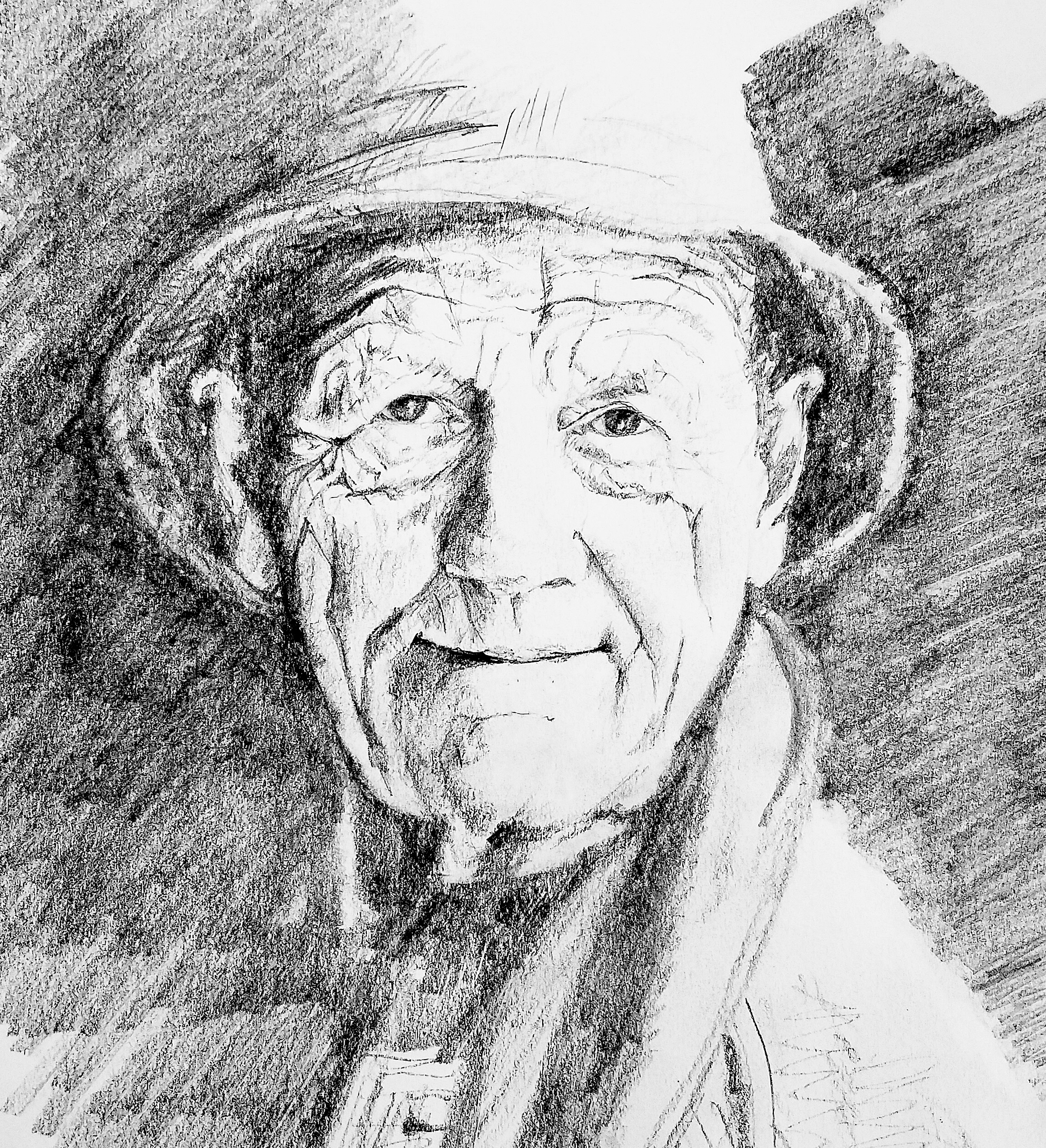 William Trevor, graphite, 2016