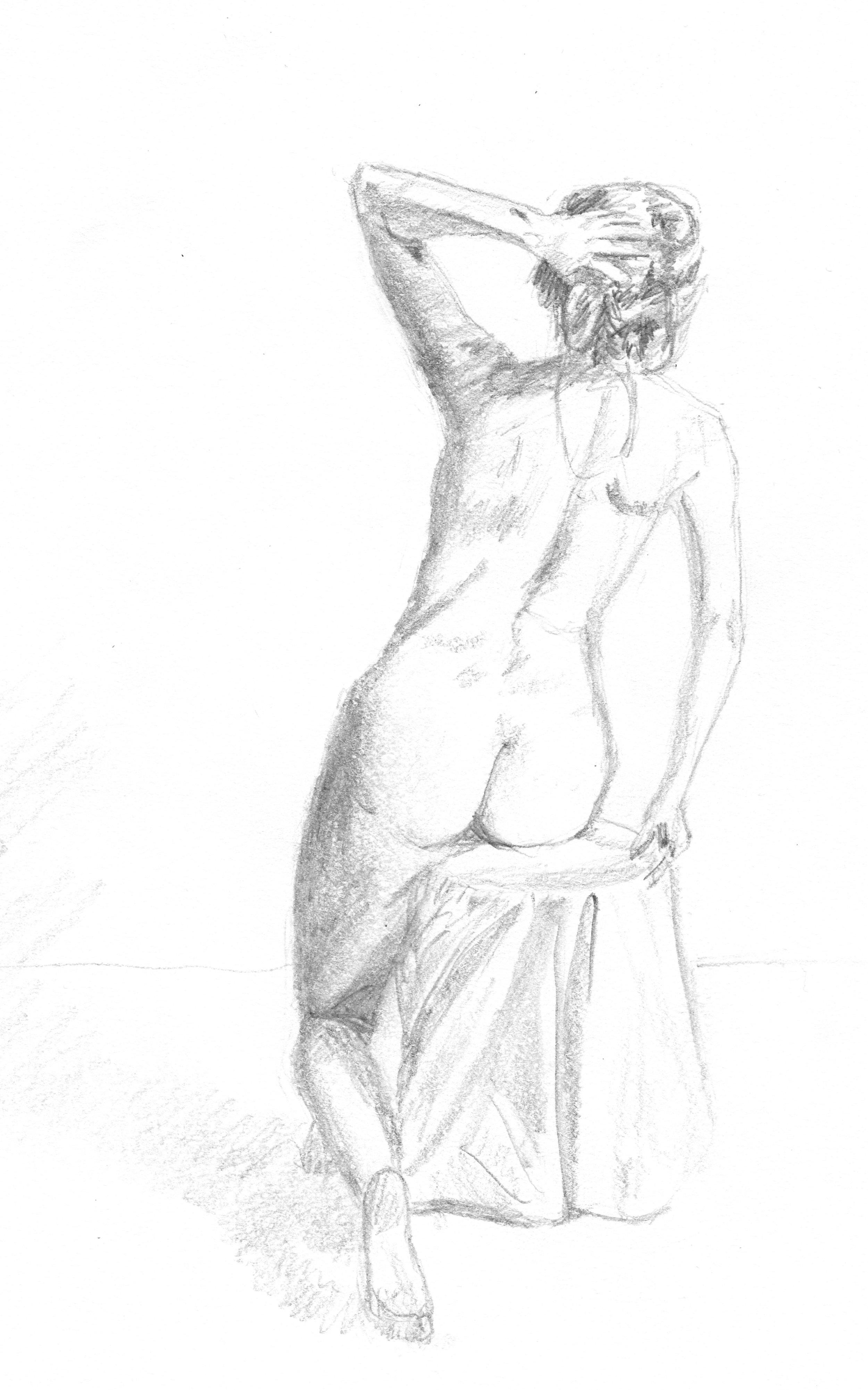 Nude, graphite, 2016