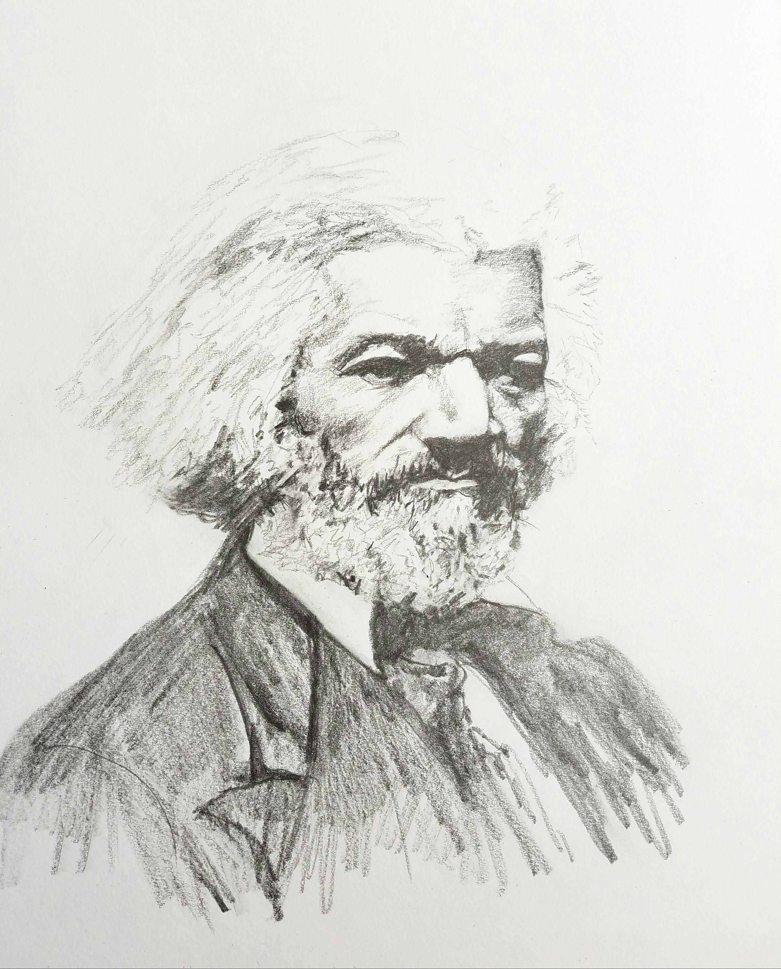 Frederick Douglass; graphite; 2017