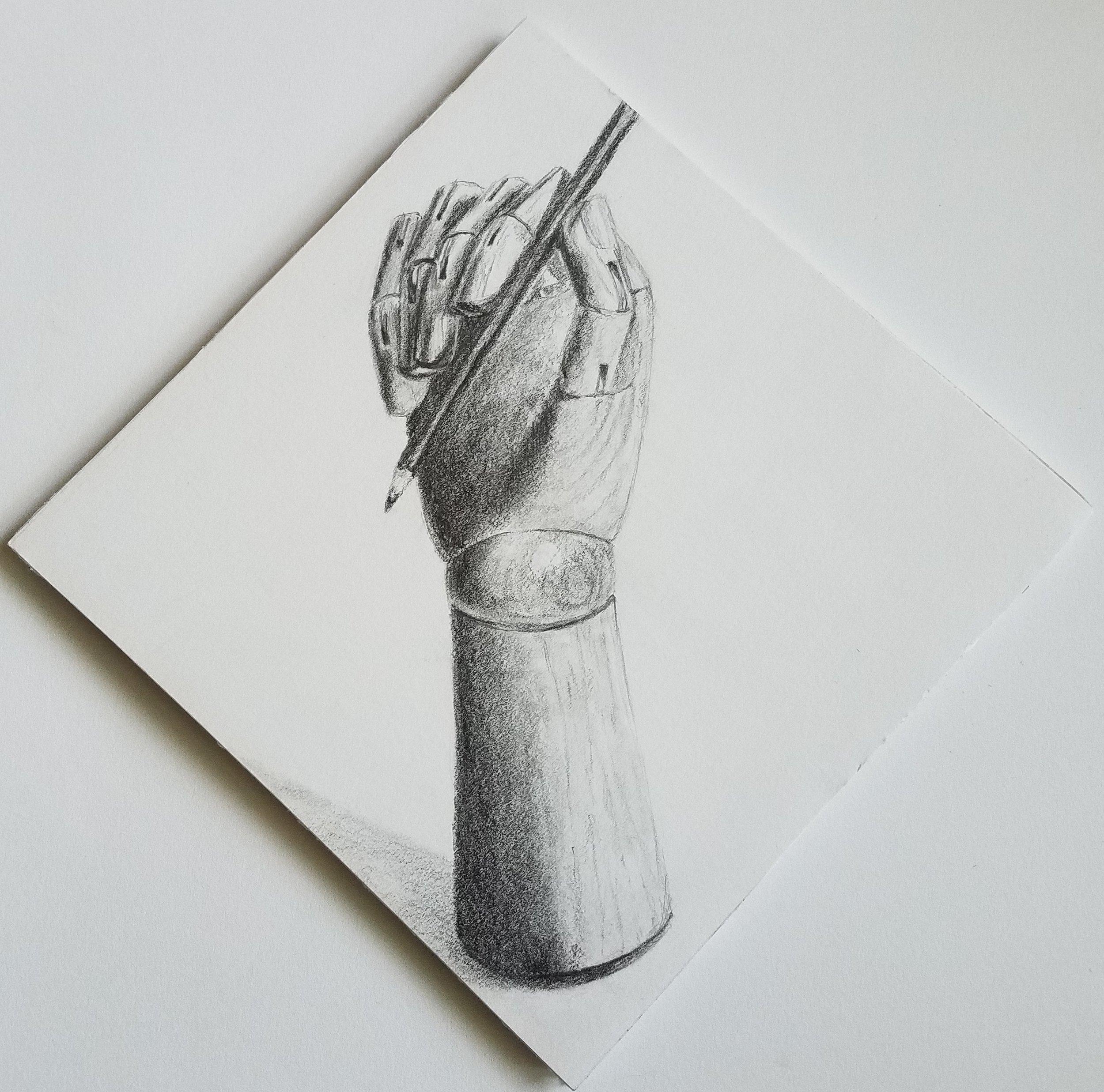 Model hand; graphite; 2017