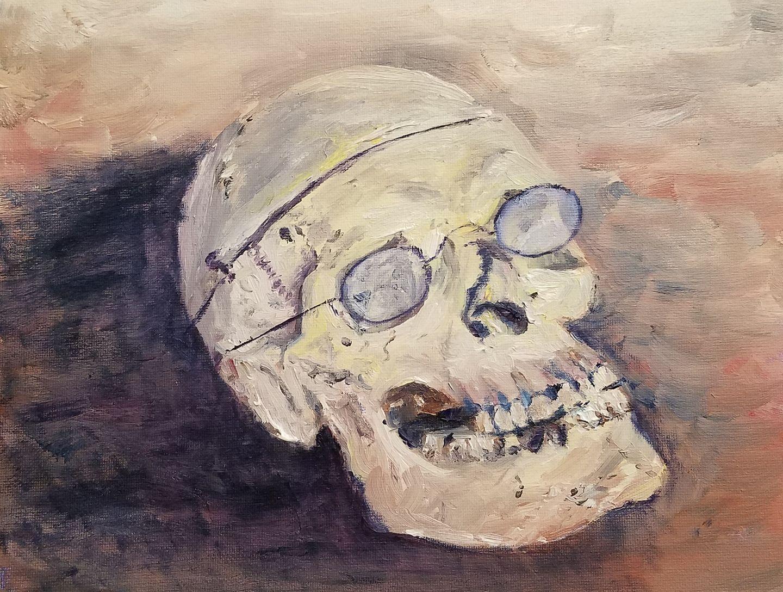 Skull; graphite; 2017