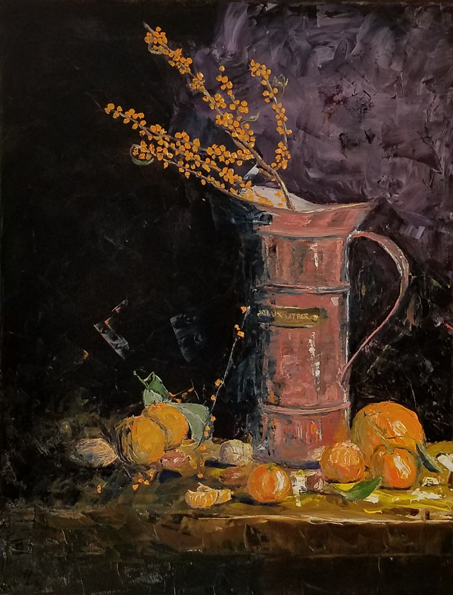 Water Can with Orange Berries; oil; 2017