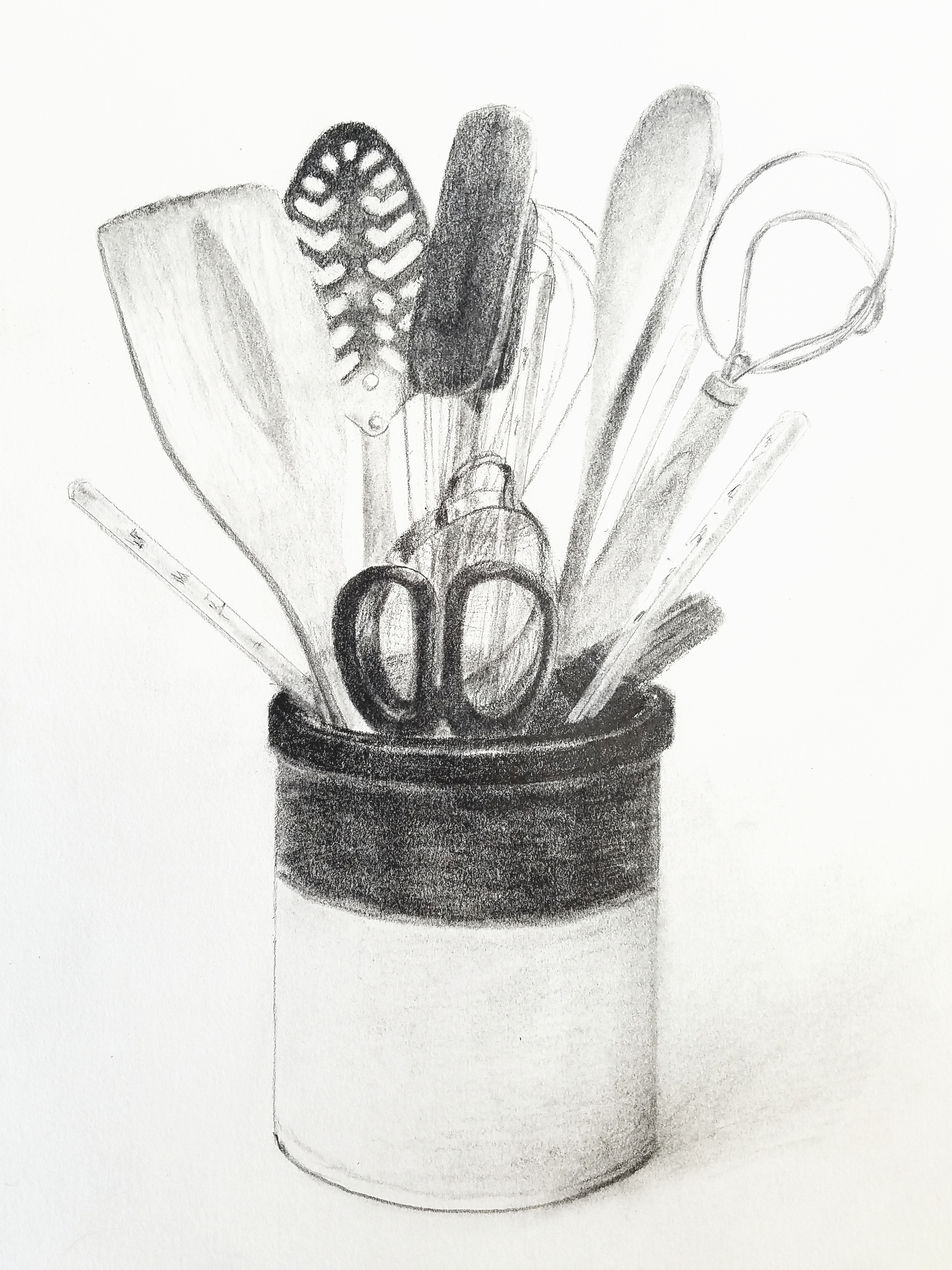 Kitchen Utensils; graphite; 2018