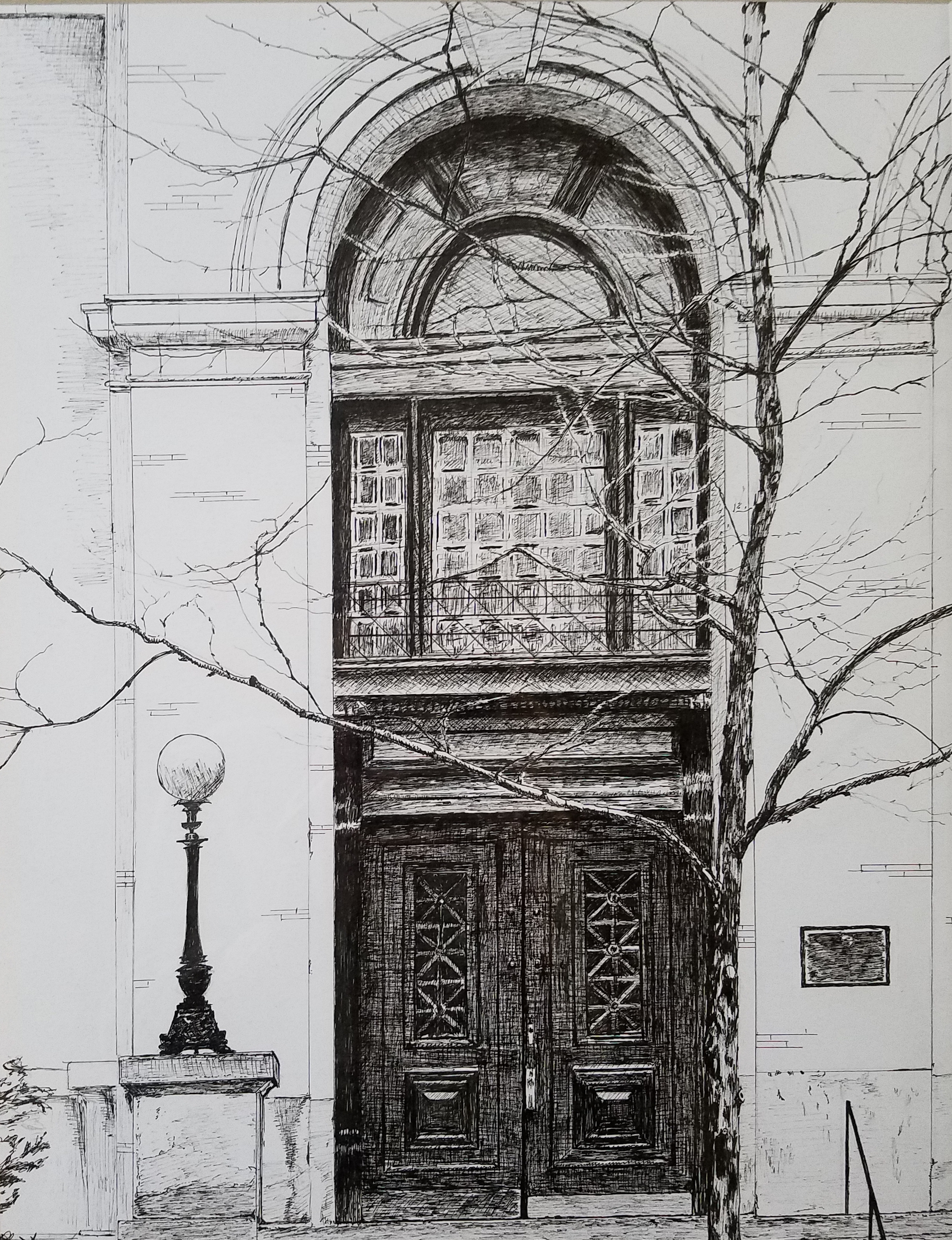 Door; pen and ink, 11x14; 2018