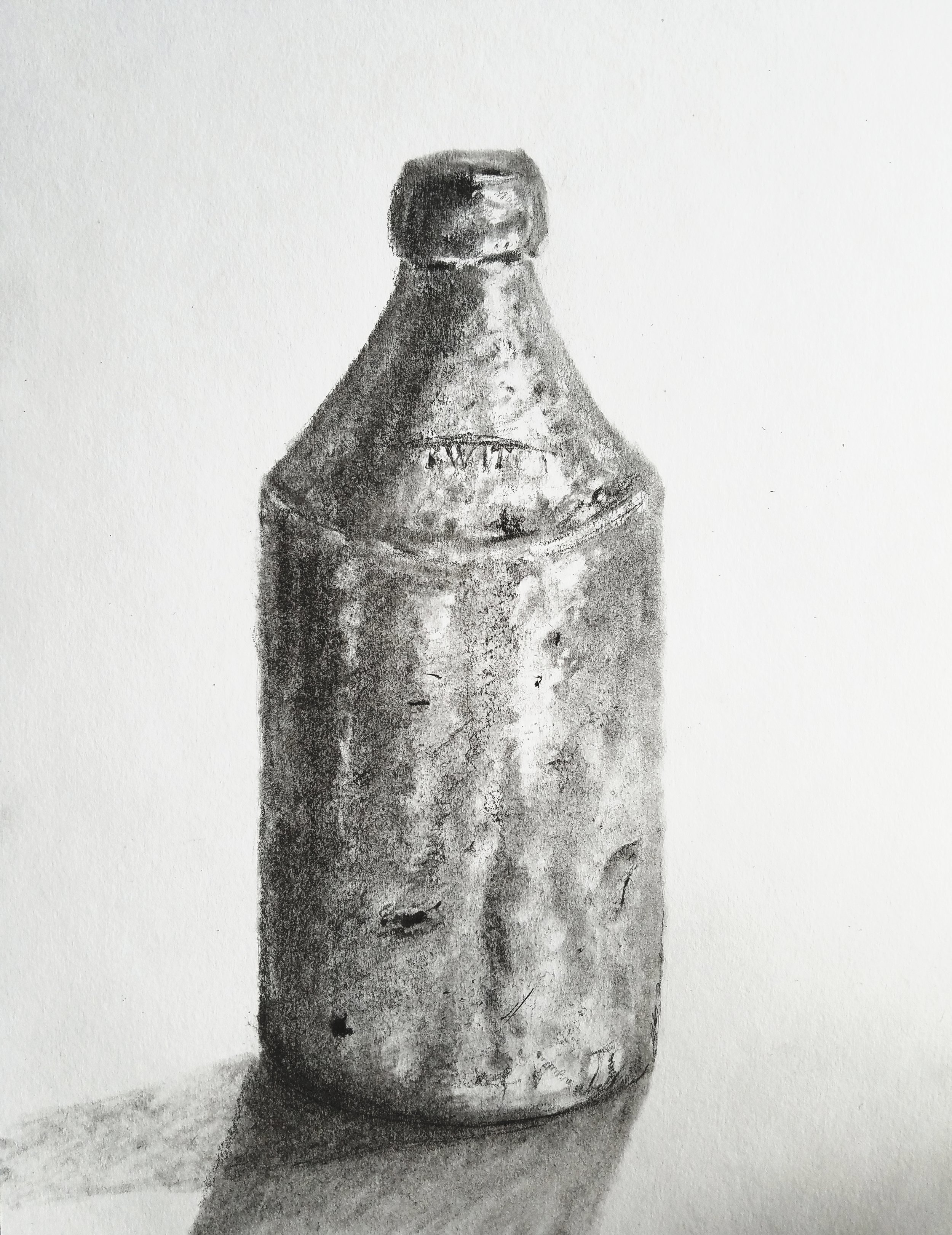Ceramic Beer Bottle; graphite; 2018