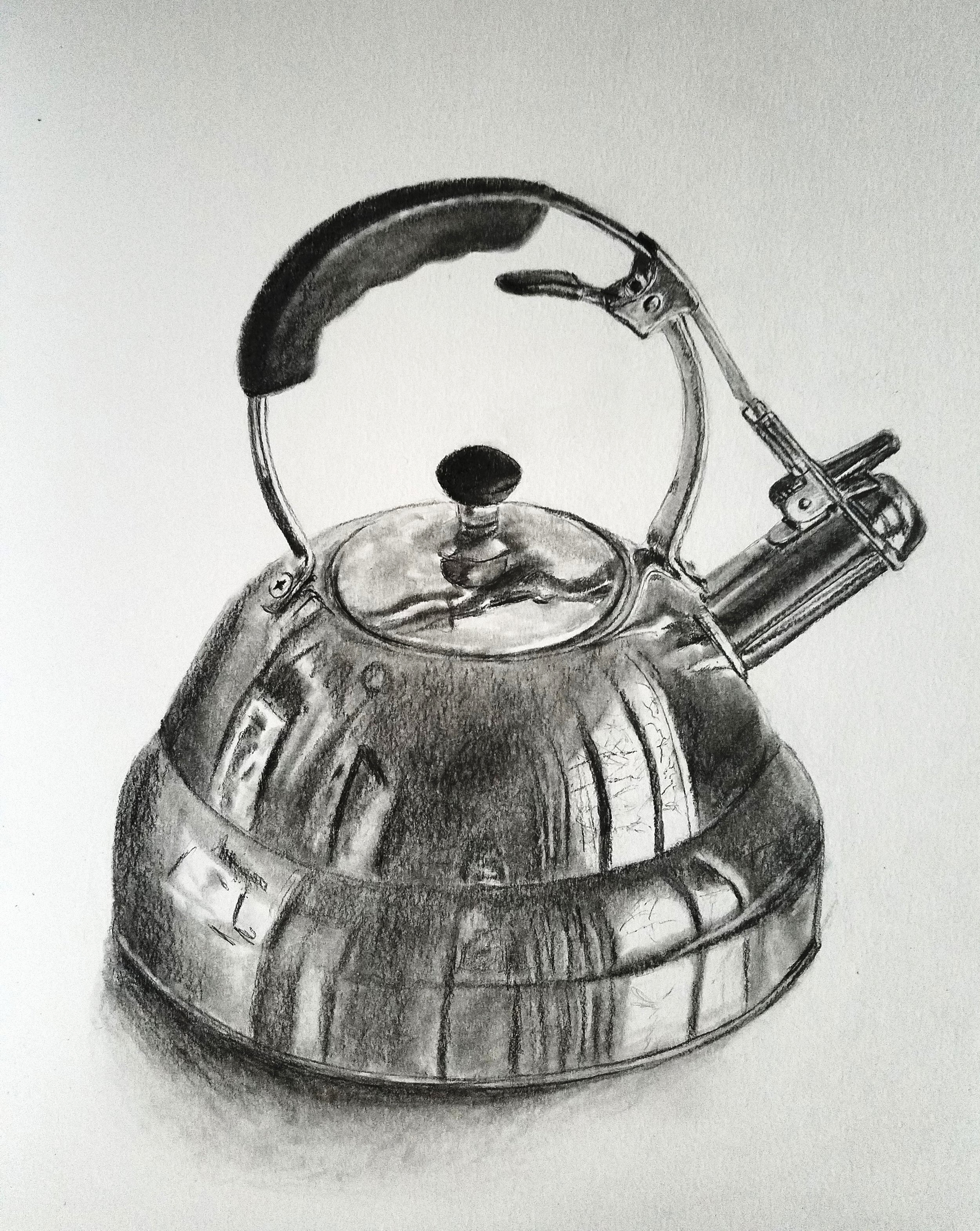 Tea Kettle; graphite; 2018