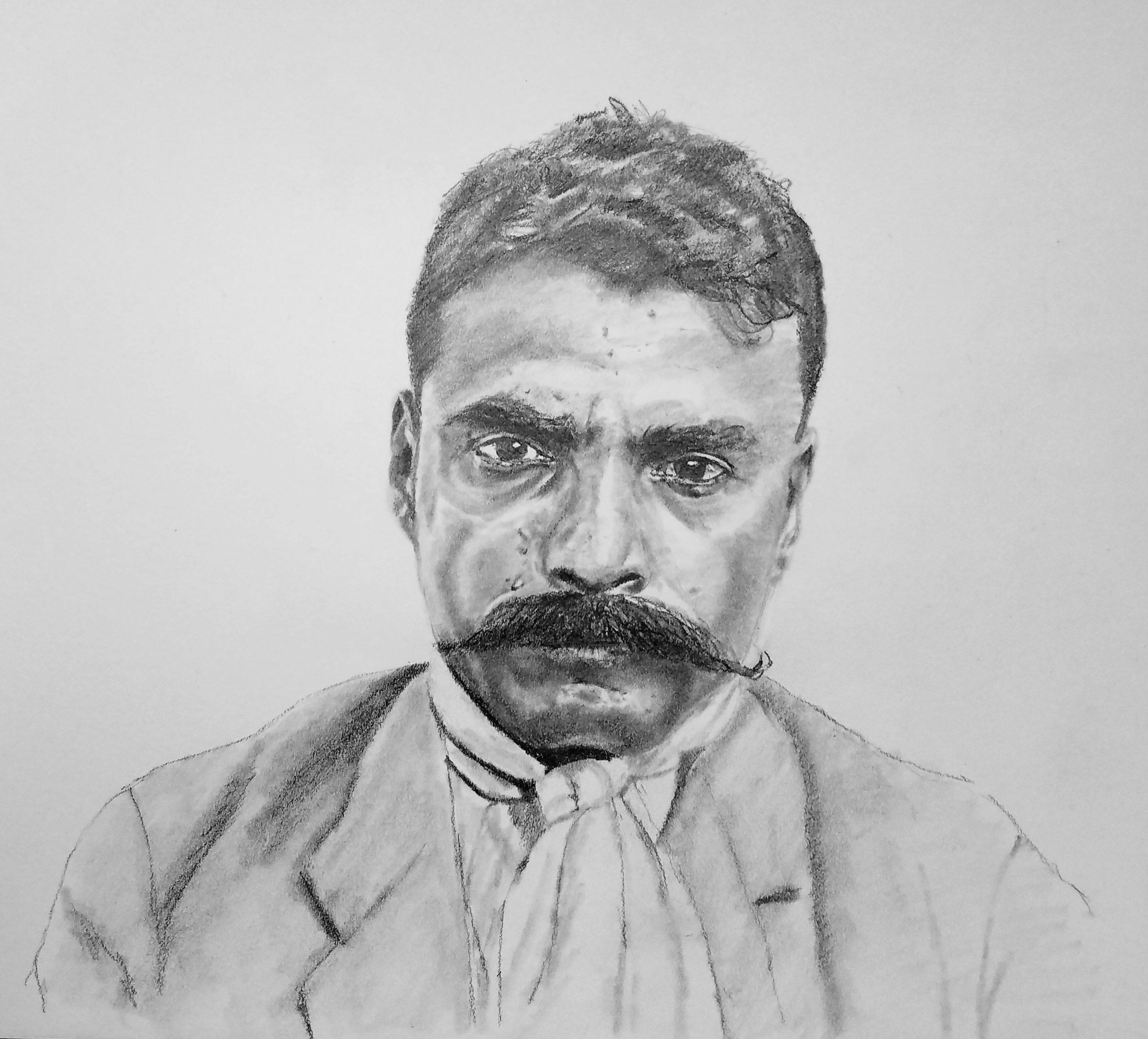 Emiliano Zapata; graphite; 2019