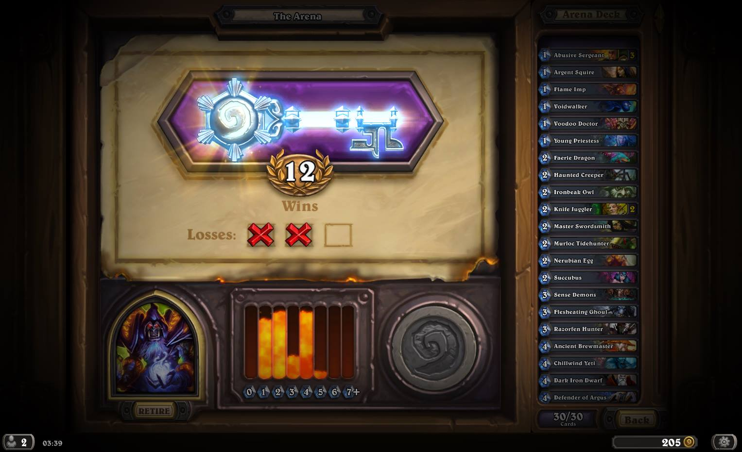 I focused mainly on Arena after getting to rank 5 with Rogue
