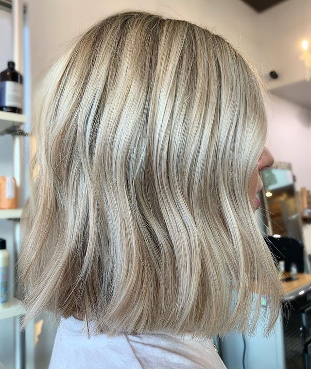 That Pinterest color and cut ✨ • • • By @hannahdushawhair