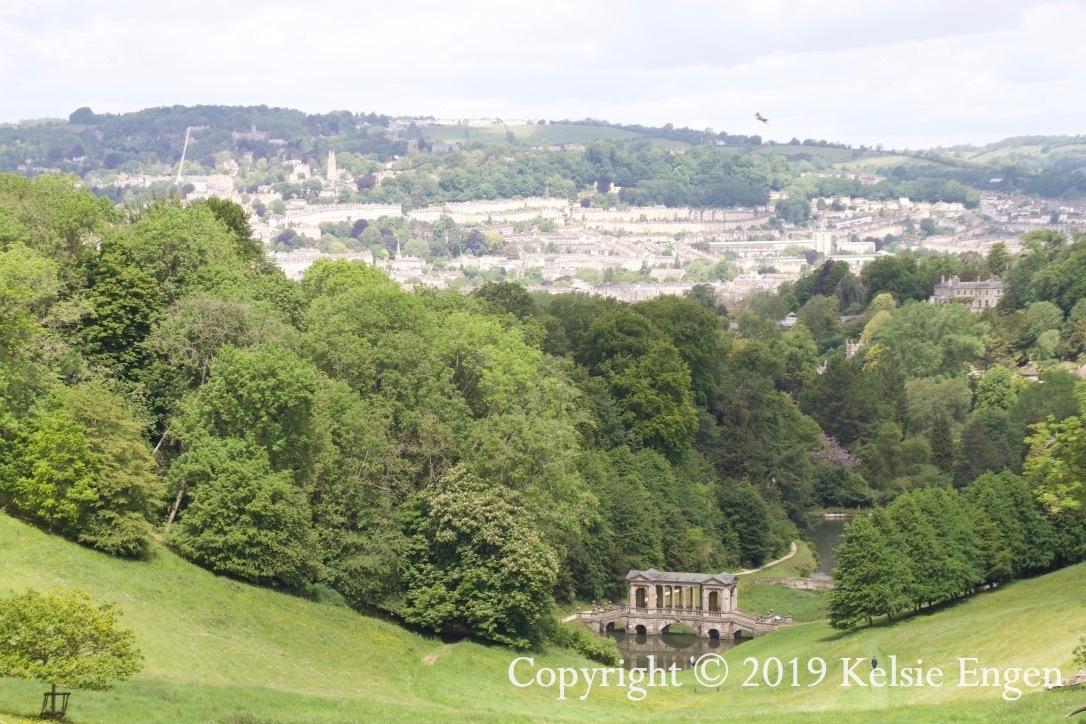 Bath skyline, seen from Prior Park.