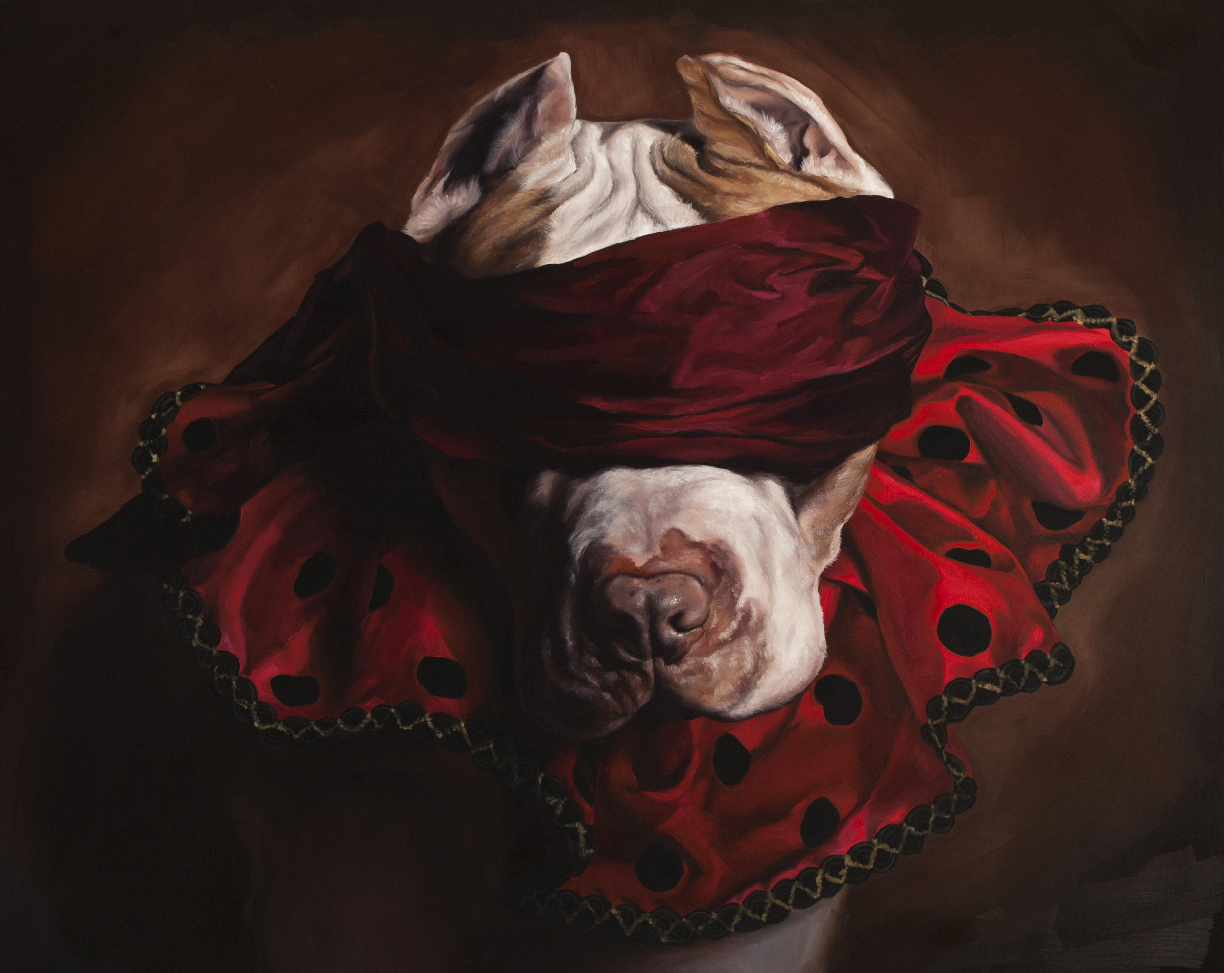 "The Fool, 48""x60"", oil on canvas"
