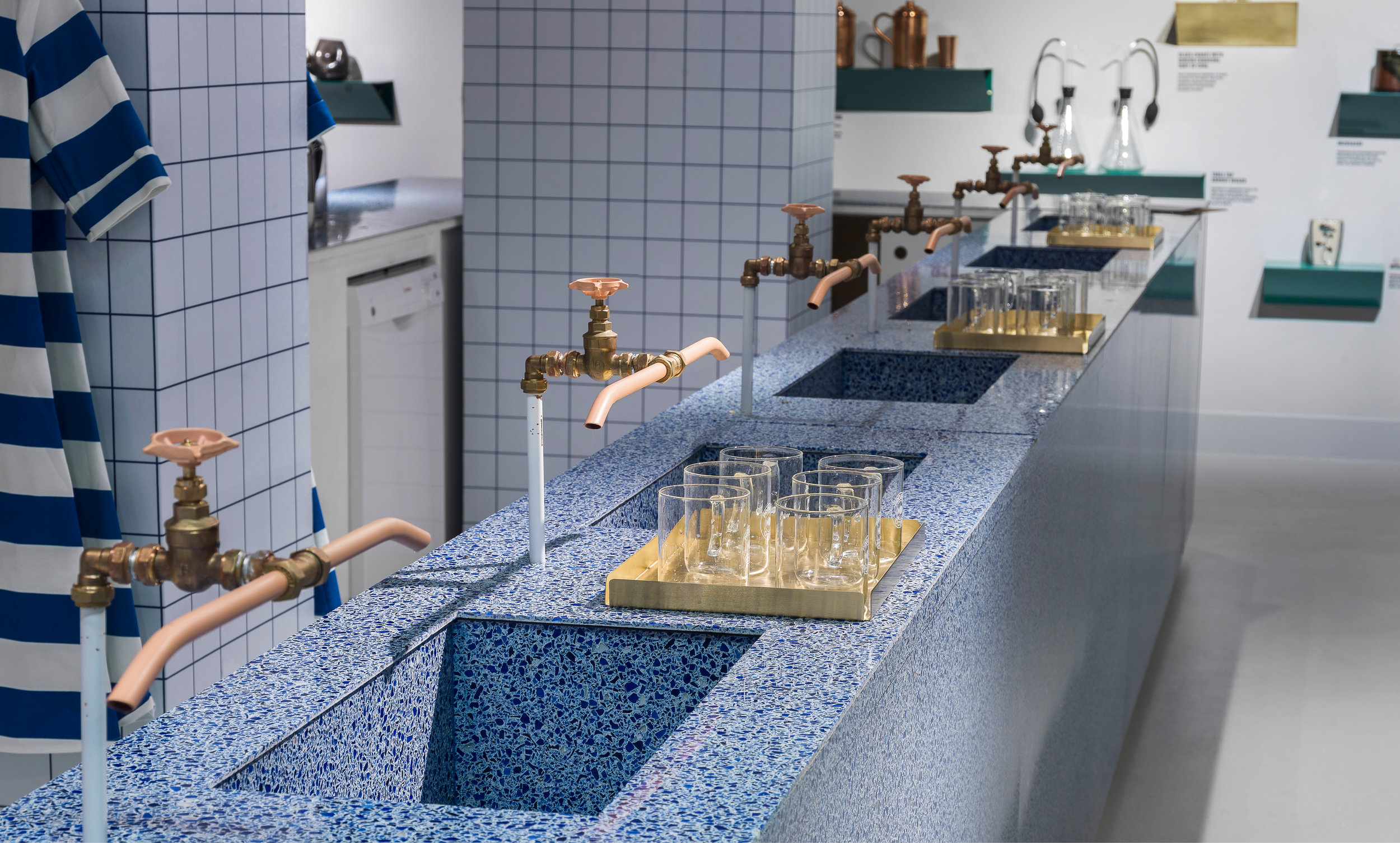 Selfridges Project Ocean Exhibition and Water Bar