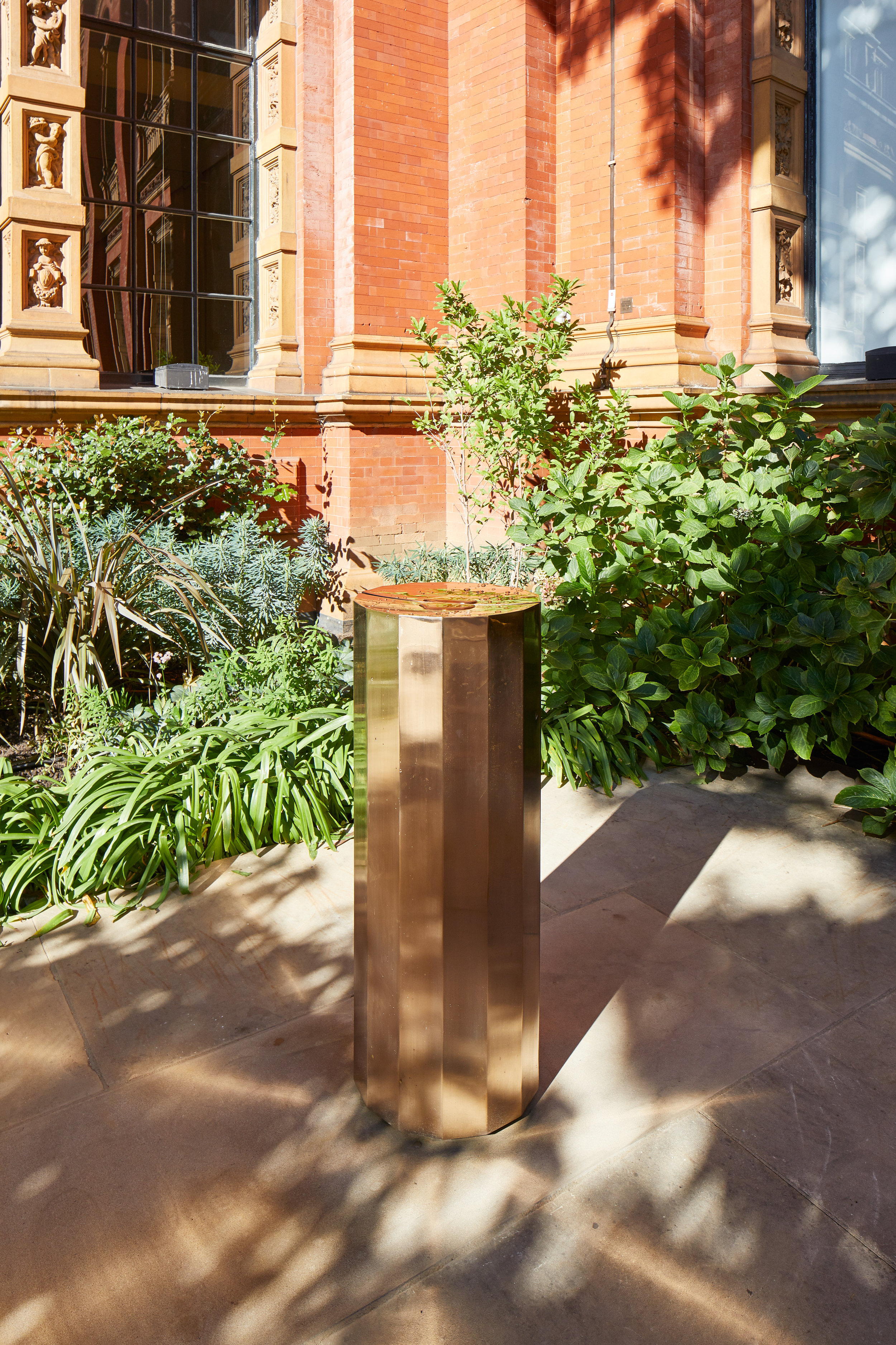 The Fleet, designed by Michael Anastassiades, installed in the John Madejski Garden at the V&A.