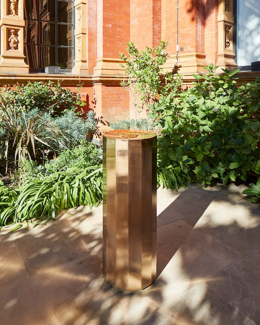 The feet drinking fountain designed by Michael Anastassiades at the V&A.