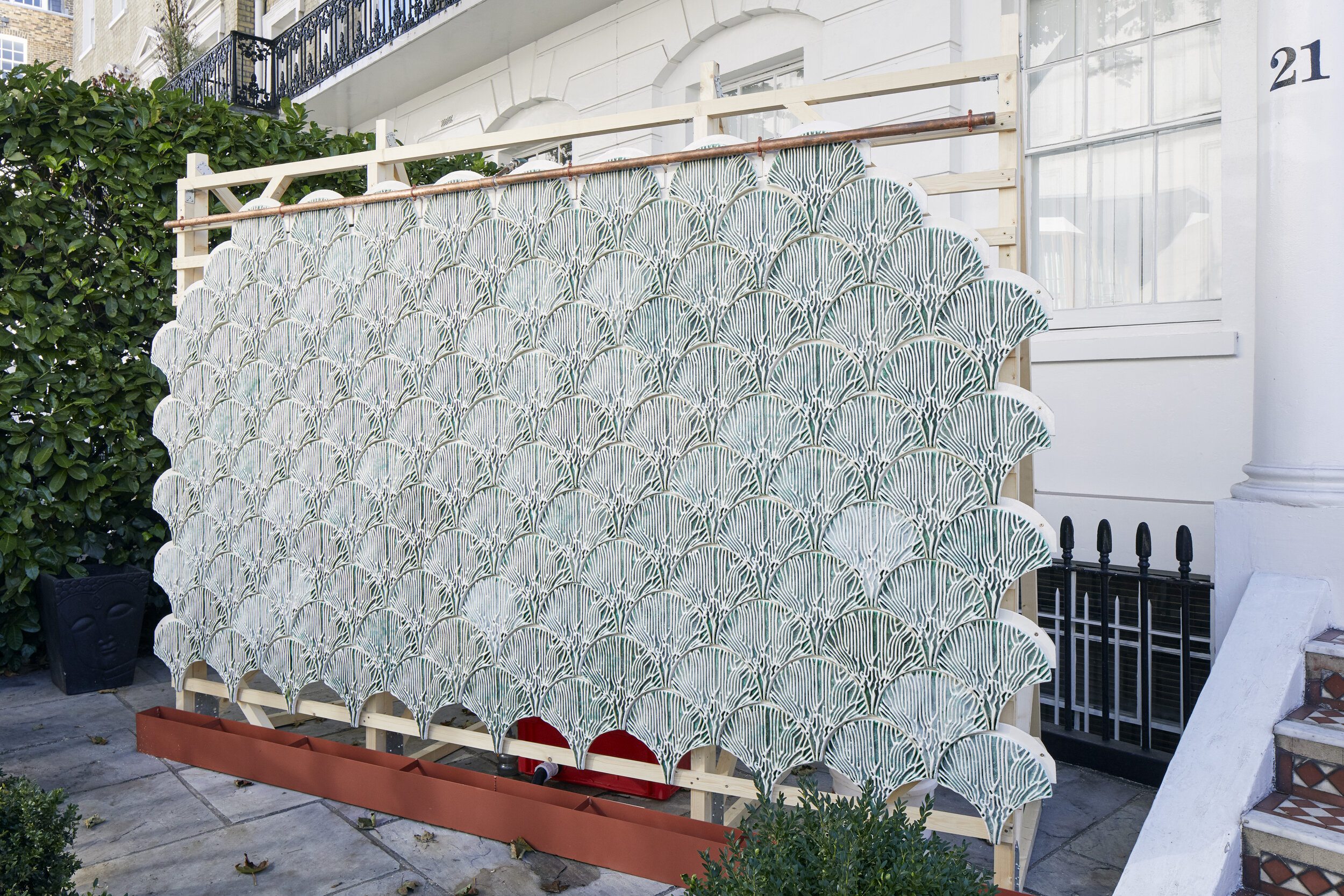 Indus by Bio-ID outside 21 Thurloe Place, Nature/Nurture 2019