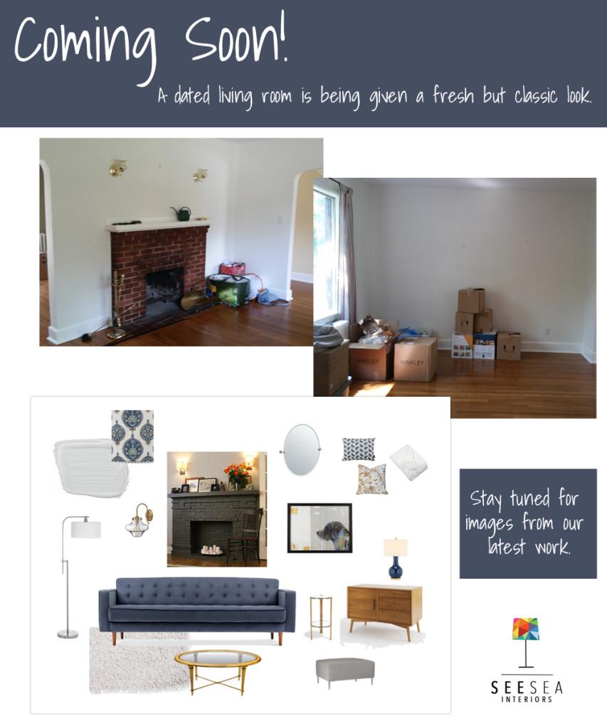 Living room decor - SeeSea Interiors - residential interior decorator - Halifax