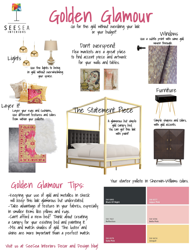 Golden Glamour board