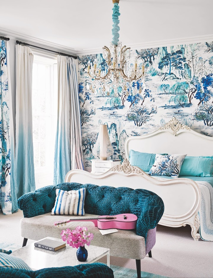 House tour: a beautiful house in Bristol, filled with color and light. The kitchen, living room, bedroom and bath are great examples of being fearless with color, print and pattern.