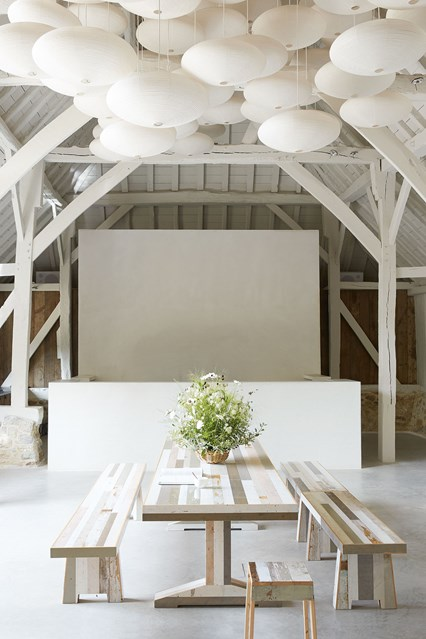 A restored manor house in Sussex is a perfect marriage of historic character and modern elements.