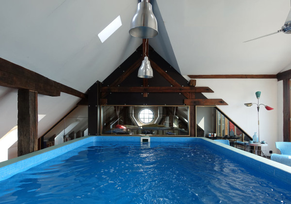 And yes, a pool on the fourth floor. This was made possible by an existing water storage facility on this floor.