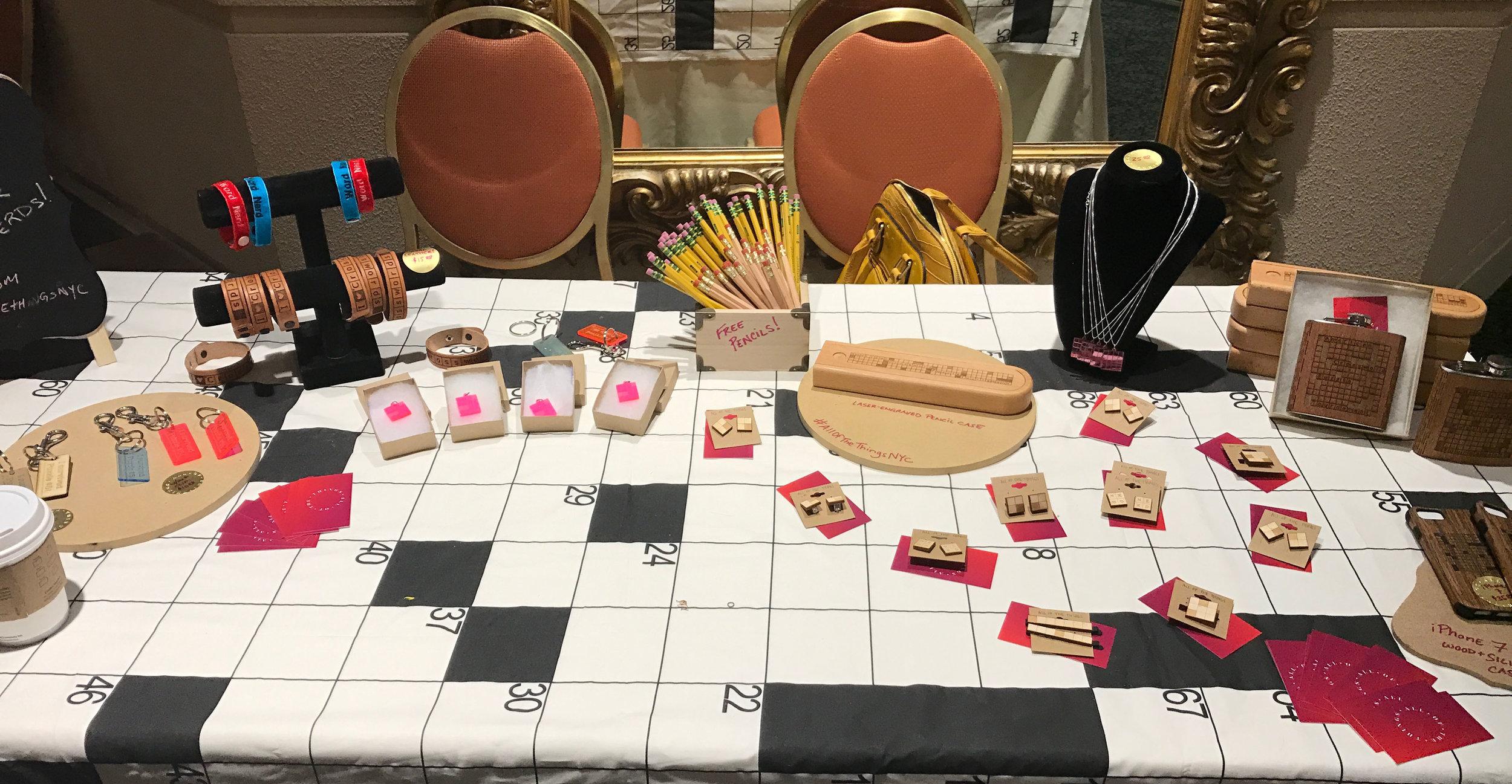 The American Crossword Puzzle Tournament Pop-Up Shop