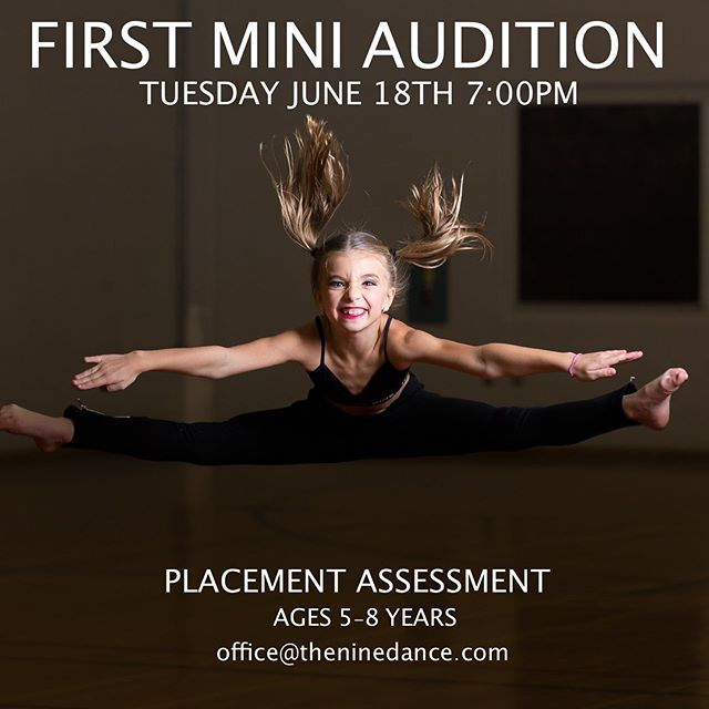 Do you want to know where your child fits best? We're having complimentary Placement Assessments for •Micro Mini•Part Time Mini•Full Time Mini• E-mail us to sign up TODAY! #NINE05 #theninedance #wethenine #cloudnine