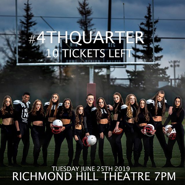 Don't miss your chance to watch the #4THQUARTER . 10 Tickets Remaining . Purchase yours @ rhcentre.ca #theninedance #wethenine #cloudnine