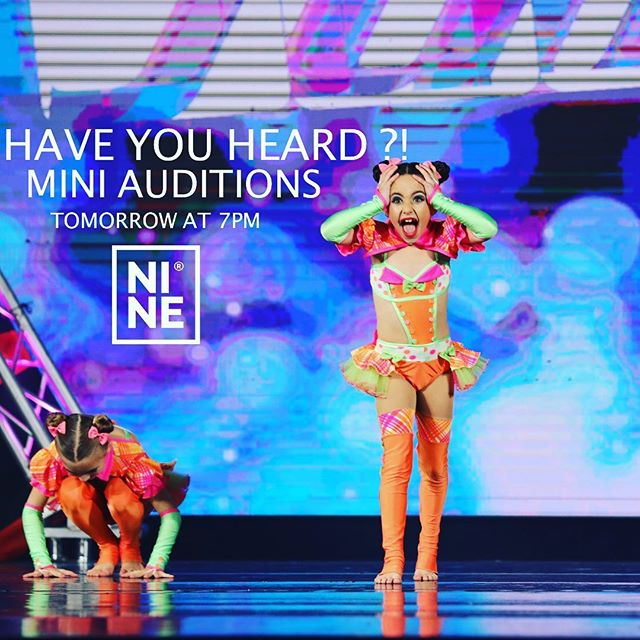 Tomorrow evening marks the MINI AUDITIONS for our #NINE05 SEASON! Drop-Ins are welcome . See you there! #theninedance #wethenine #cloudnine